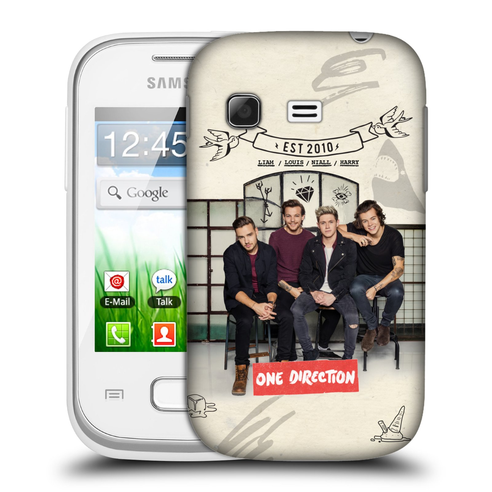 Plastové pouzdro na mobil Samsung Galaxy Pocket HEAD CASE One Direction - EST 2010 (Kryt či obal One Direction Official na mobilní telefon Samsung Galaxy Pocket GT-S5300)