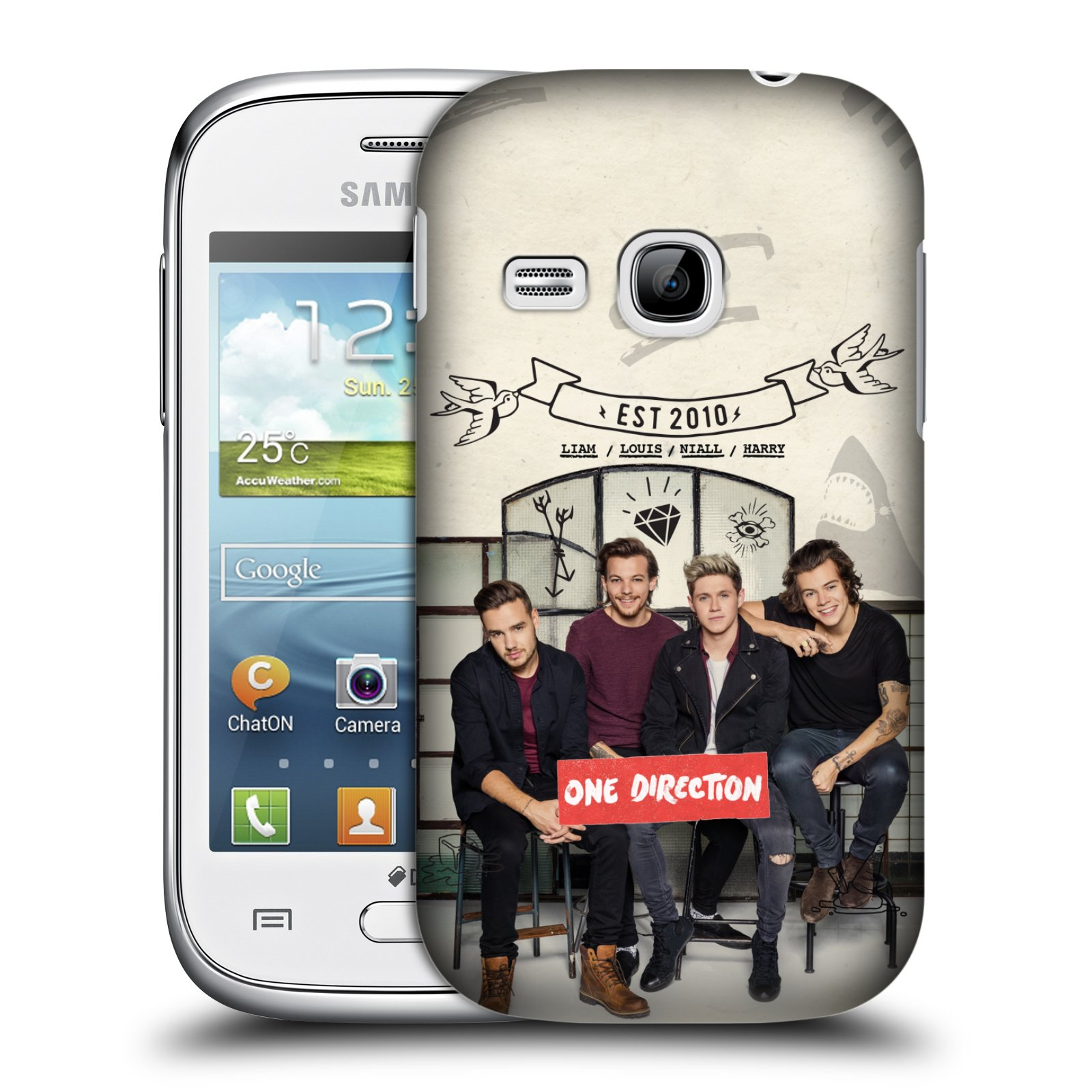 Plastové pouzdro na mobil Samsung Galaxy Young HEAD CASE One Direction - EST 2010 (Kryt či obal One Direction Official na mobilní telefon Samsung Galaxy Young GT-S6310)