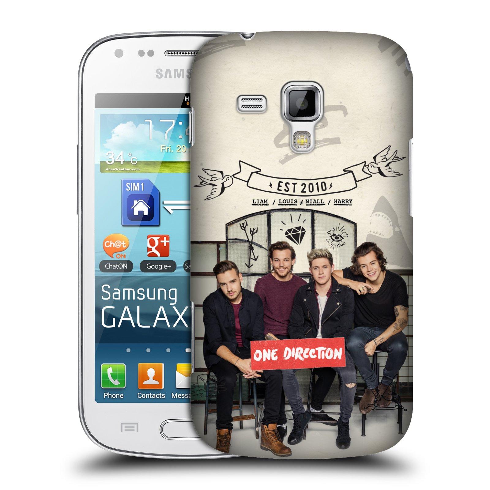 Plastové pouzdro na mobil Samsung Galaxy Trend HEAD CASE One Direction - EST 2010 (Kryt či obal One Direction Official na mobilní telefon Samsung Galaxy Trend GT-S7560)