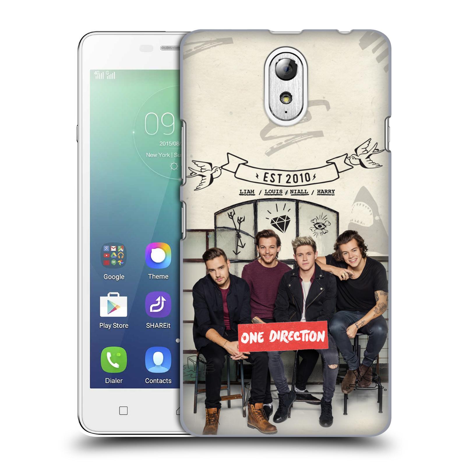 Plastové pouzdro na mobil Lenovo Vibe P1m HEAD CASE One Direction - EST 2010 (Kryt či obal One Direction Official na mobilní telefon Lenovo Vibe P1m)