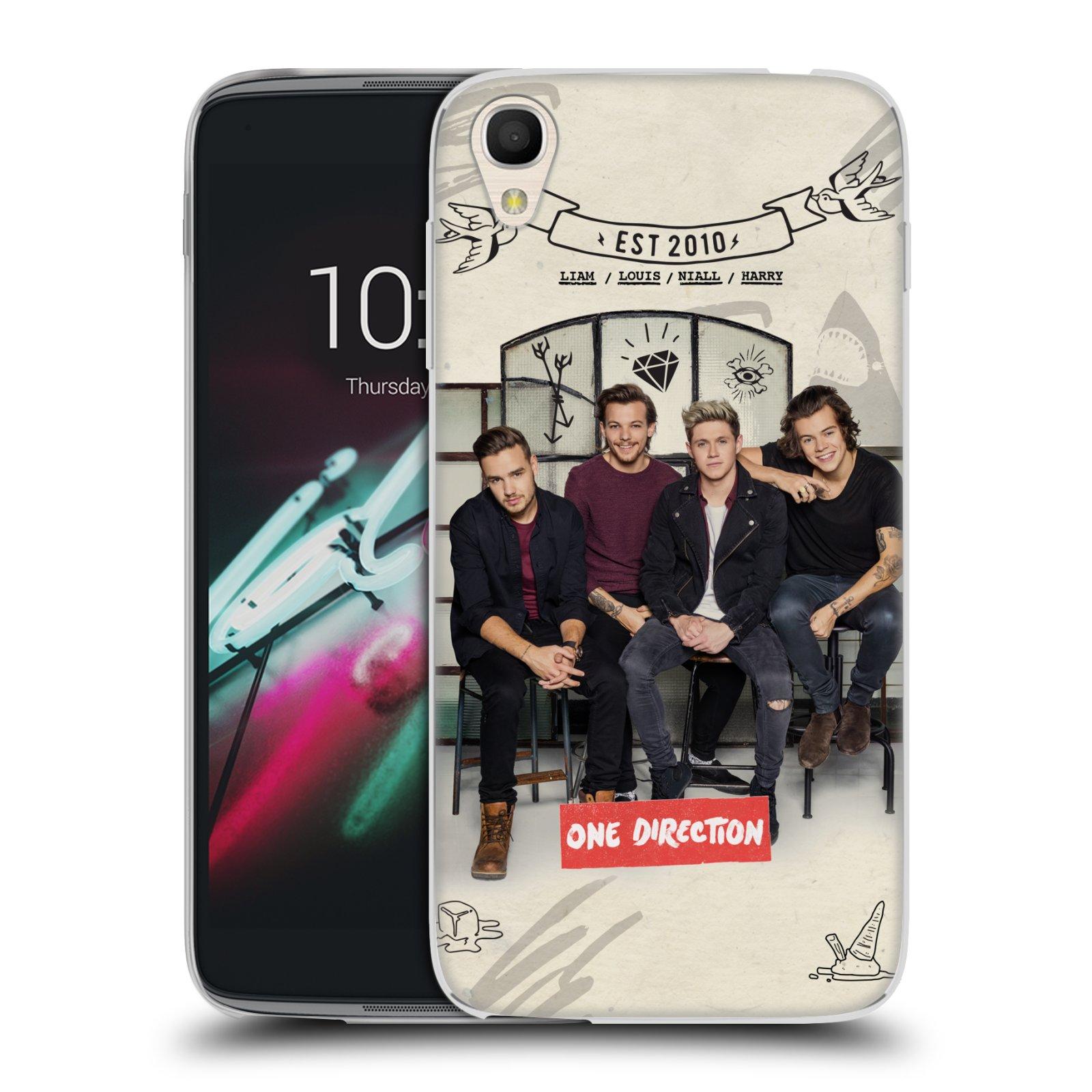 """Silikonové pouzdro na mobil Alcatel One Touch 6039Y Idol 3 HEAD CASE One Direction - EST 2010 (Silikonový kryt či obal One Direction Official na mobilní telefon Alcatel One Touch Idol 3 OT-6039Y s 4,7"""" displejem)"""