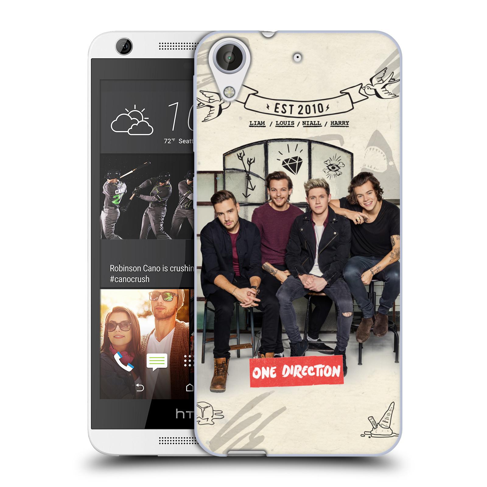 Silikonové pouzdro na mobil HTC Desire 626 / 626G HEAD CASE One Direction - EST 2010 (Silikonový kryt či obal One Direction Official na mobilní telefon HTC Desire 626 a 626G Dual SIM)