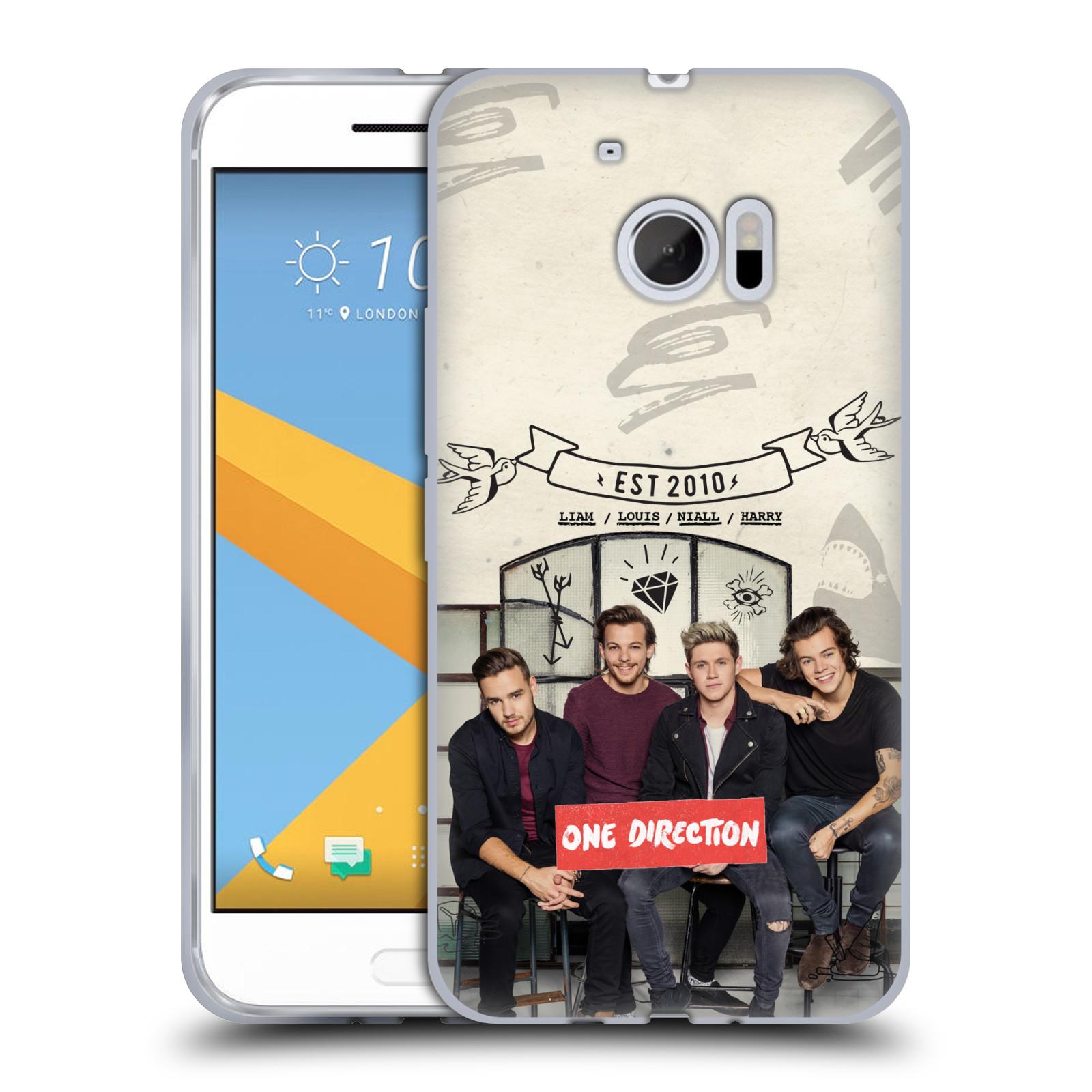 Silikonové pouzdro na mobil HTC 10 HEAD CASE One Direction - EST 2010 (Silikonový kryt či obal One Direction Official na mobilní telefon HTC 10 (HTC One M10))
