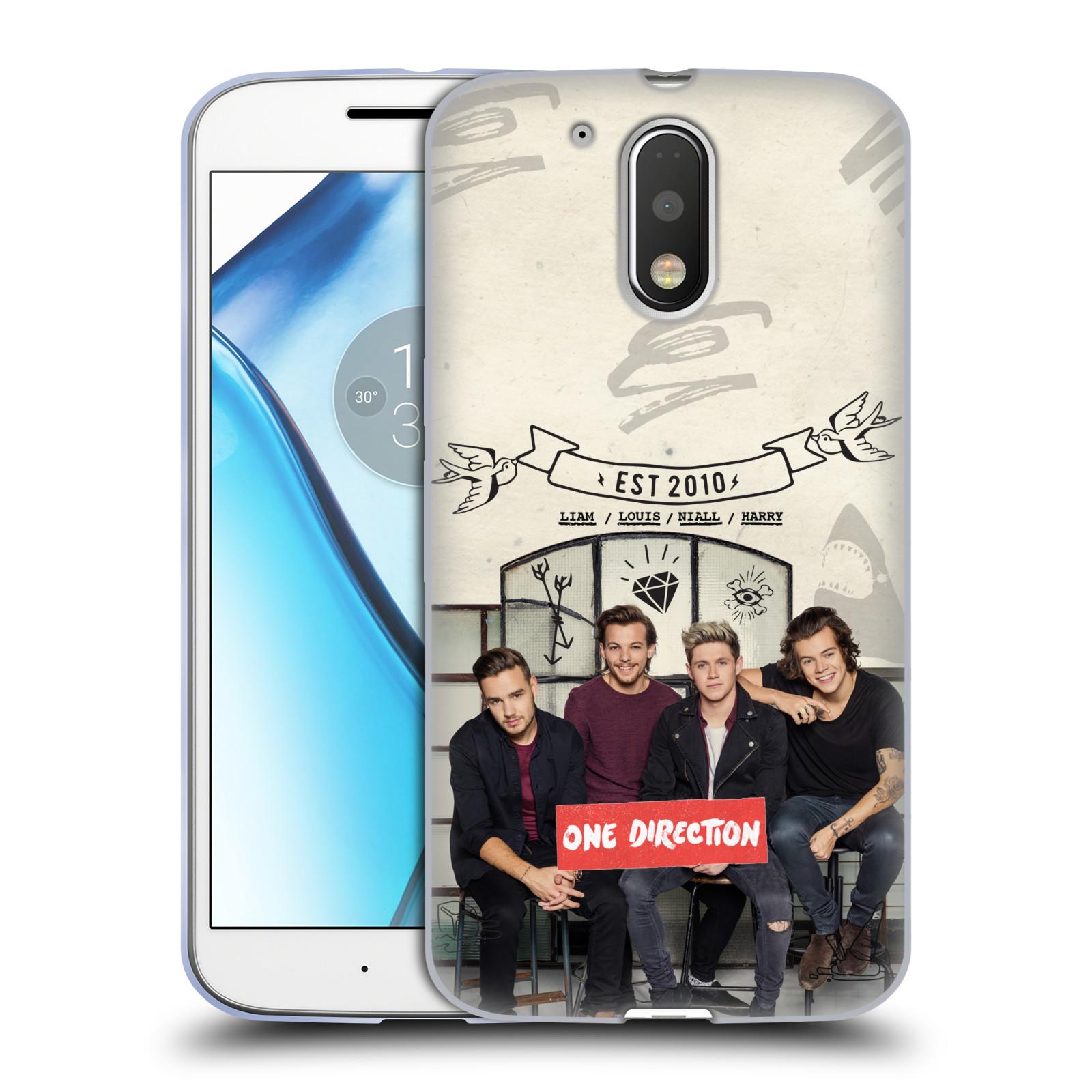 Silikonové pouzdro na mobil Lenovo Moto G4 HEAD CASE One Direction - EST 2010 (Silikonový kryt či obal One Direction Official na mobilní telefon Lenovo Moto G4 (Single a Dual SIM))
