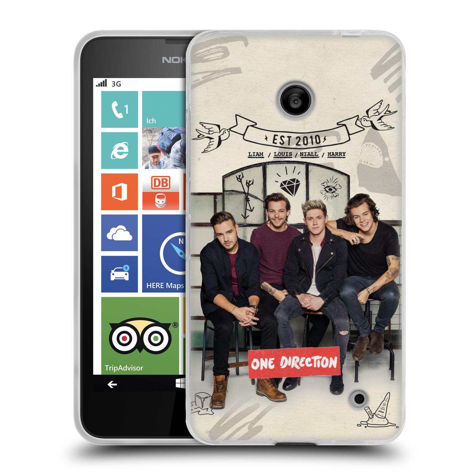 Silikonové pouzdro na mobil Nokia Lumia 635 HEAD CASE One Direction - EST 2010 (Silikonový kryt či obal One Direction Official na mobilní telefon Nokia Lumia 635 Dual SIM)