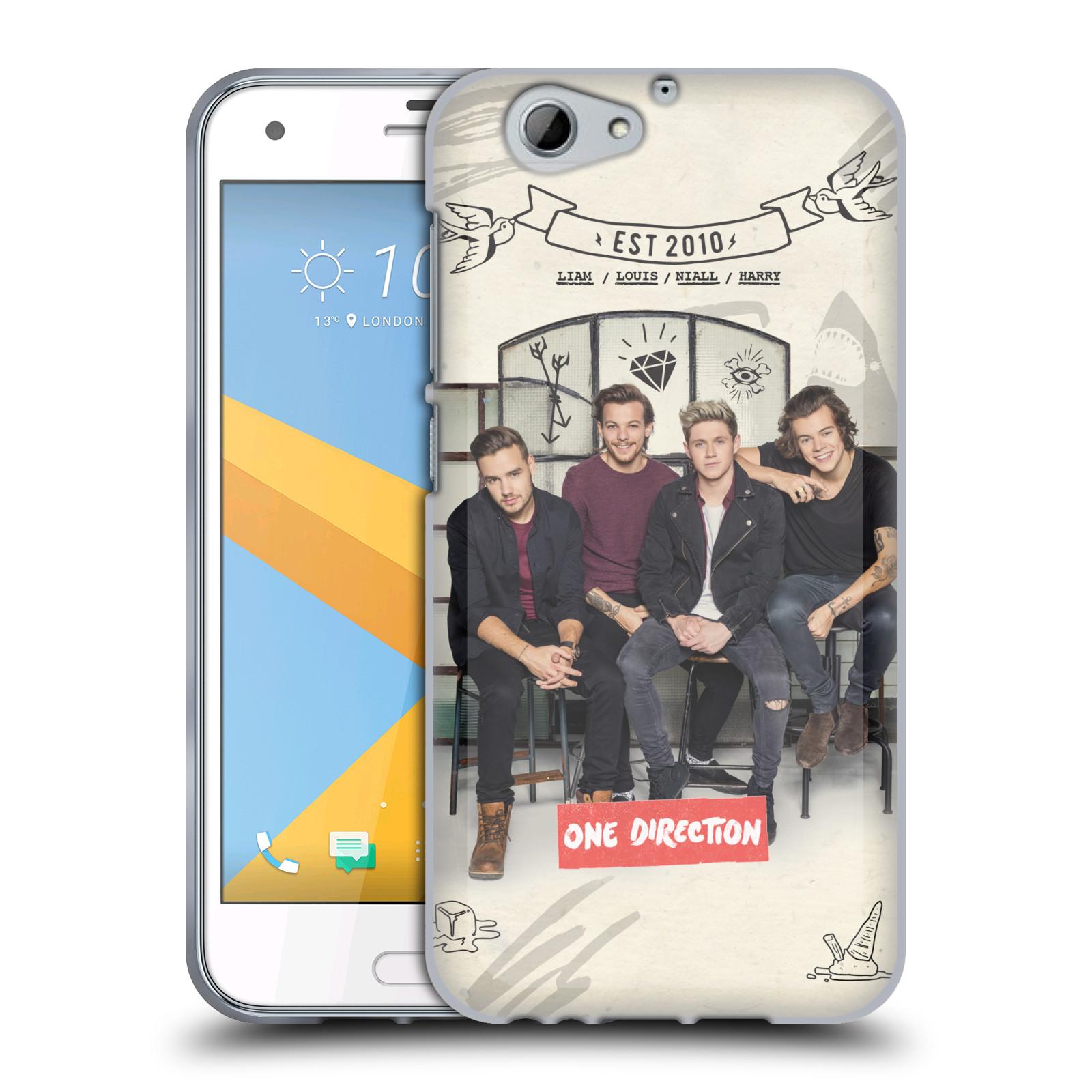 Silikonové pouzdro na mobil HTC One A9s Head Case - One Direction - EST 2010 (Silikonový kryt či obal One Direction Official na mobilní telefon HTC One A9s (A9 s))