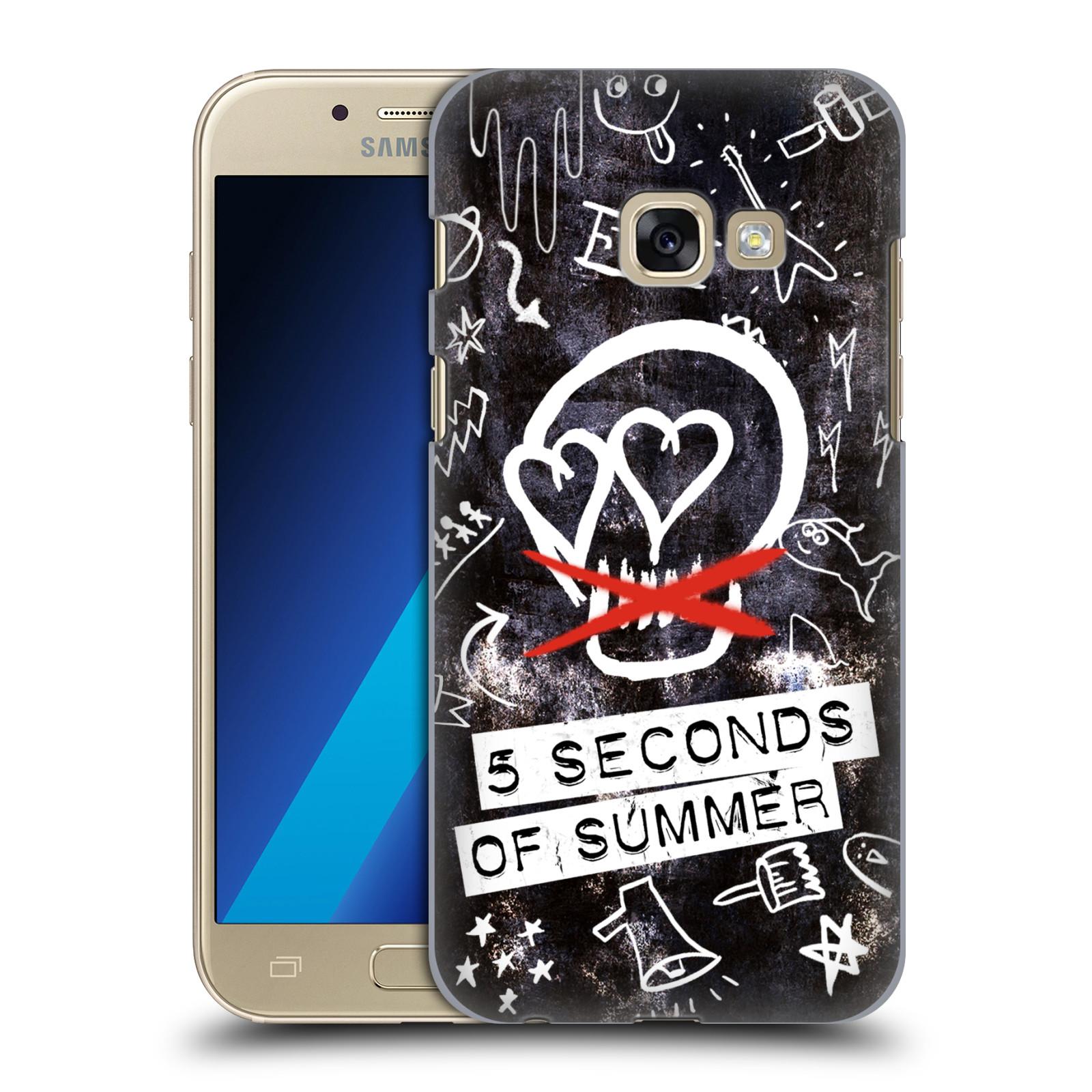 Plastové pouzdro na mobil Samsung Galaxy A3 (2017) HEAD CASE 5 Seconds of Summer - Skull