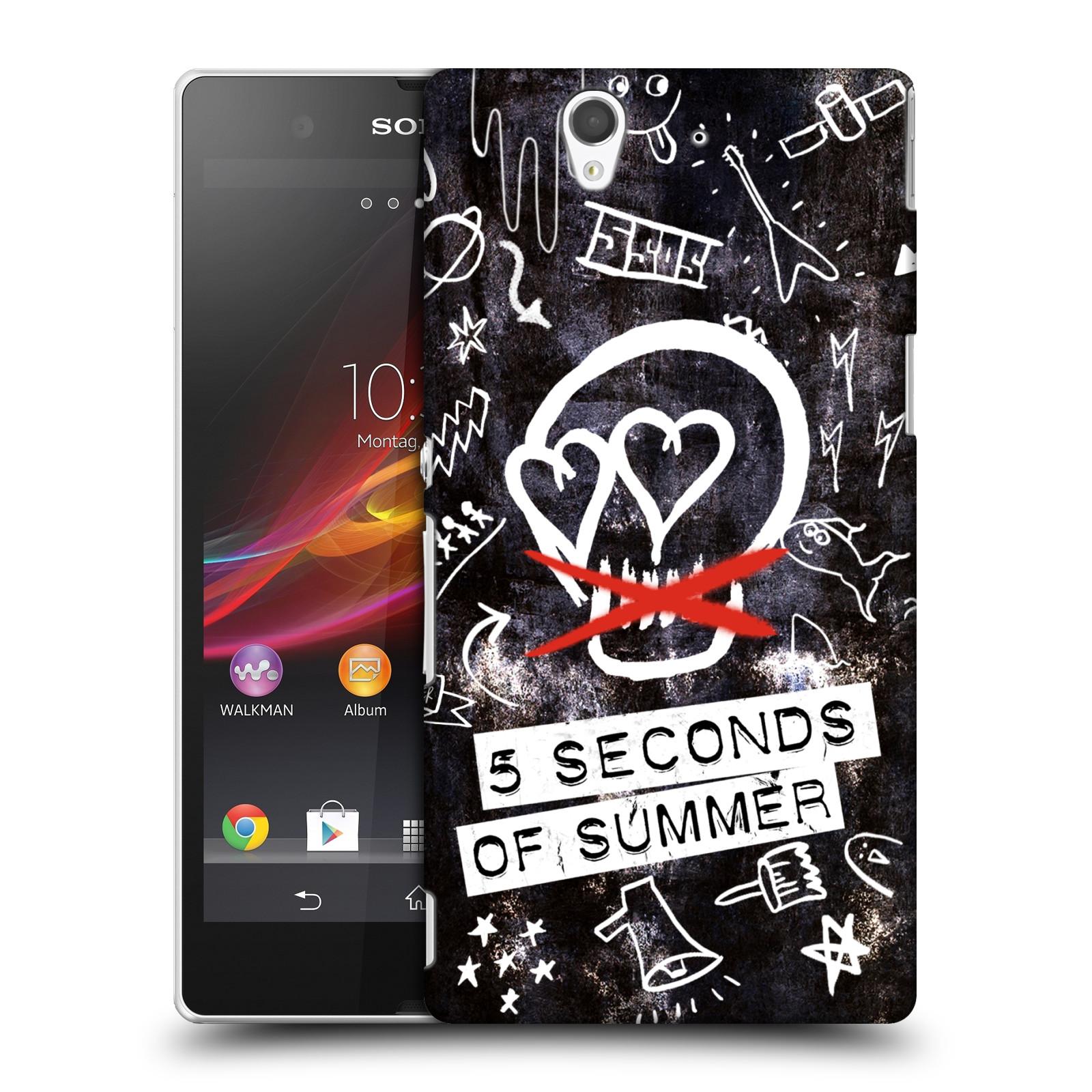 Plastové pouzdro na mobil Sony Xperia Z C6603 HEAD CASE 5 Seconds of Summer - Skull (Plastový kryt či obal na mobilní telefon licencovaným motivem 5 Seconds of Summer pro Sony Xperia Z)