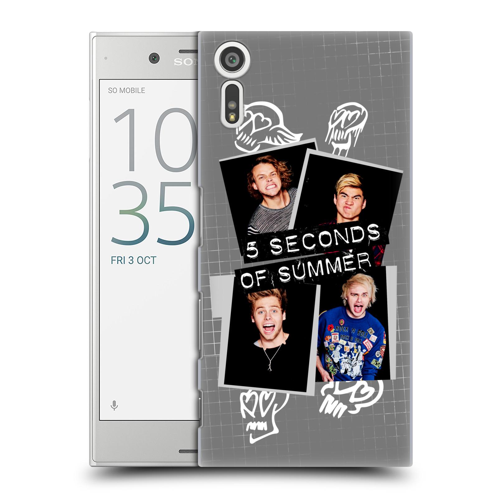Plastové pouzdro na mobil Sony Xperia XZ - Head Case 5 Seconds of Summer - Band Grey
