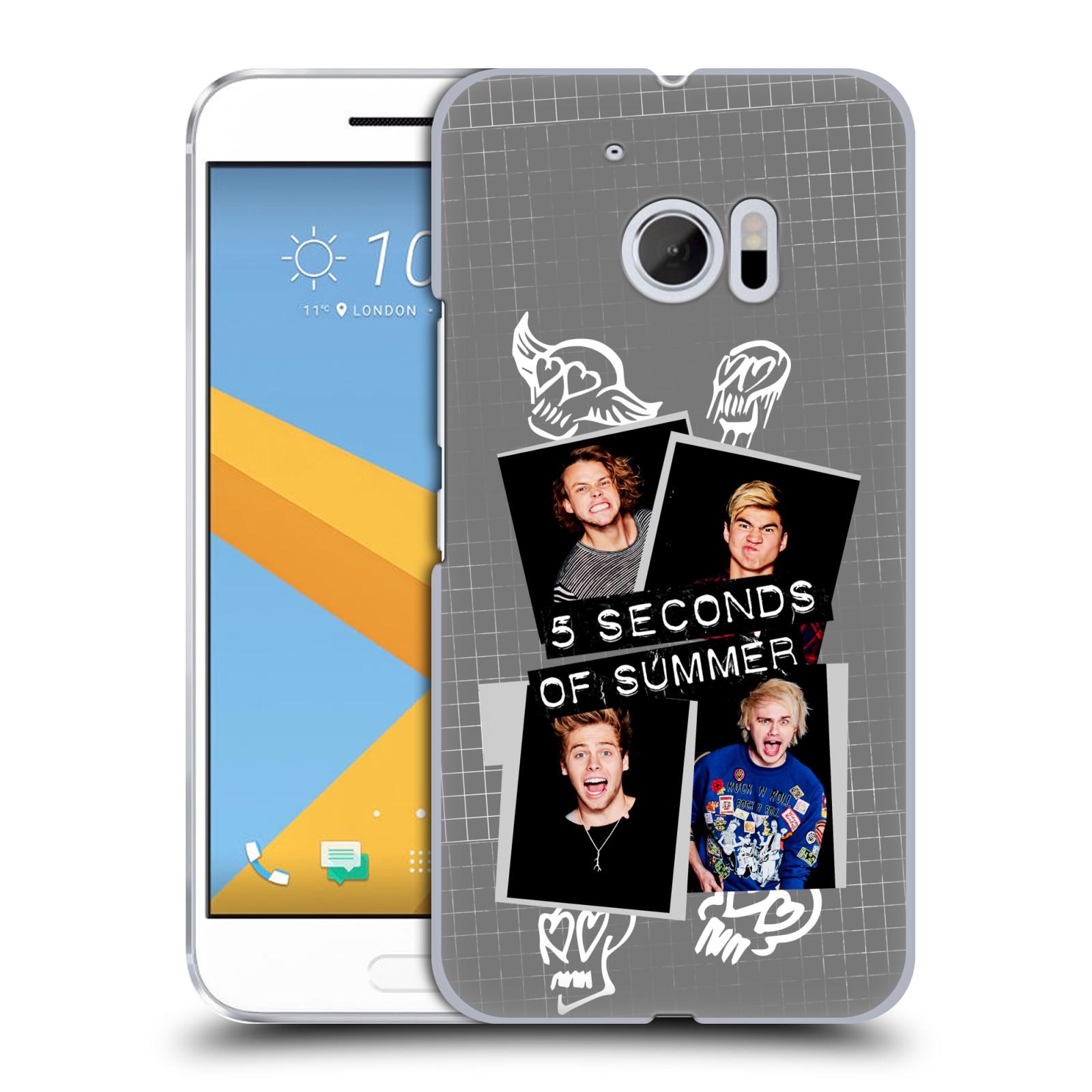 Plastové pouzdro na mobil HTC One 10 - Head Case - 5 Seconds of Summer - Band Grey (Plastový kryt či obal na mobilní telefon licencovaným motivem 5 Seconds of Summer pro HTC One 10 (M10))