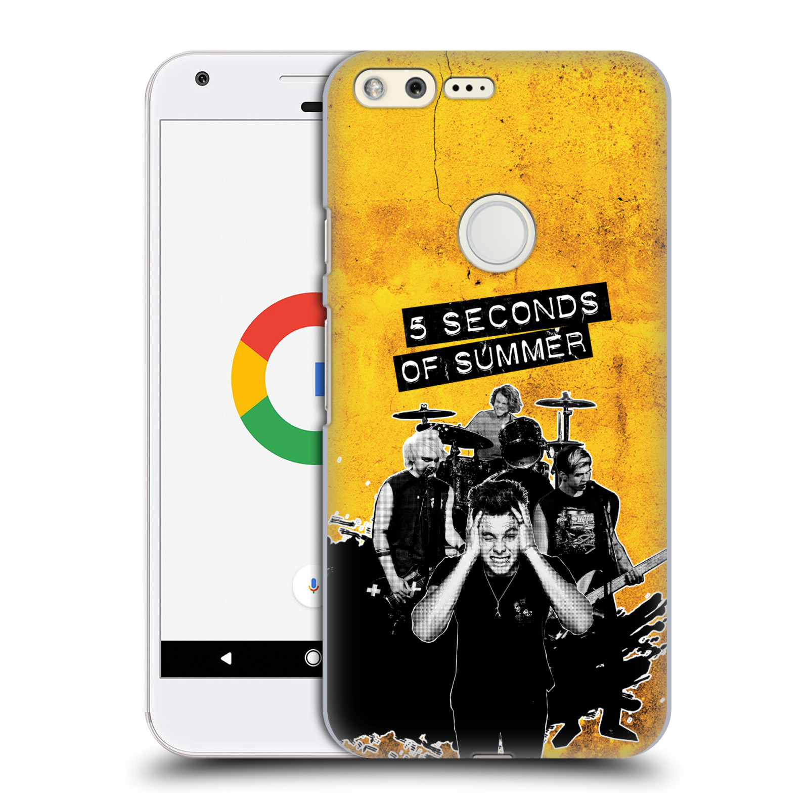 Plastové pouzdro na mobil Google Pixel HEAD CASE 5 Seconds of Summer - Band Yellow