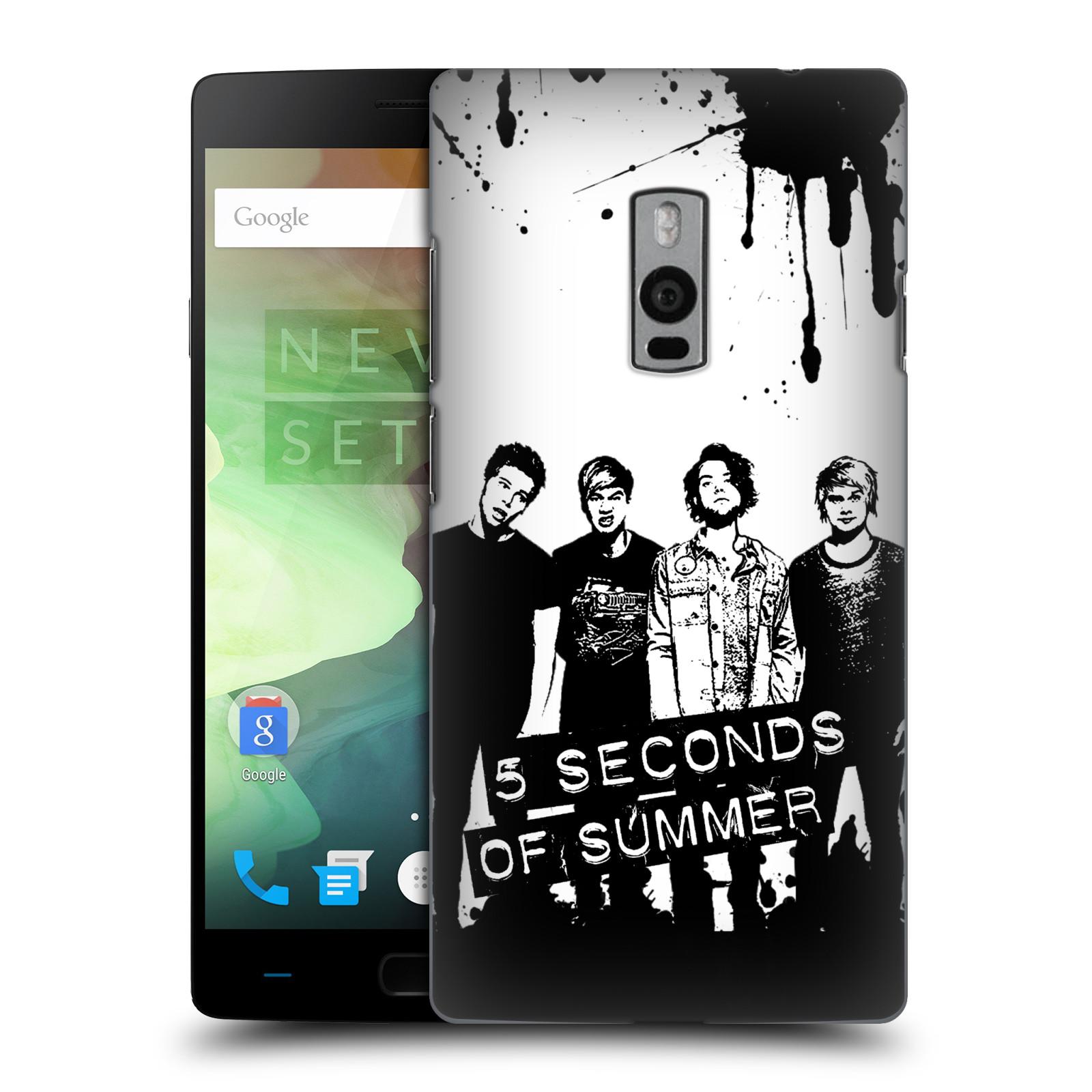 Plastové pouzdro na mobil OnePlus Two HEAD CASE 5 Seconds of Summer - Band Black and White (Plastový kryt či obal na mobilní telefon licencovaným motivem 5 Seconds of Summer pro OnePlus Two)