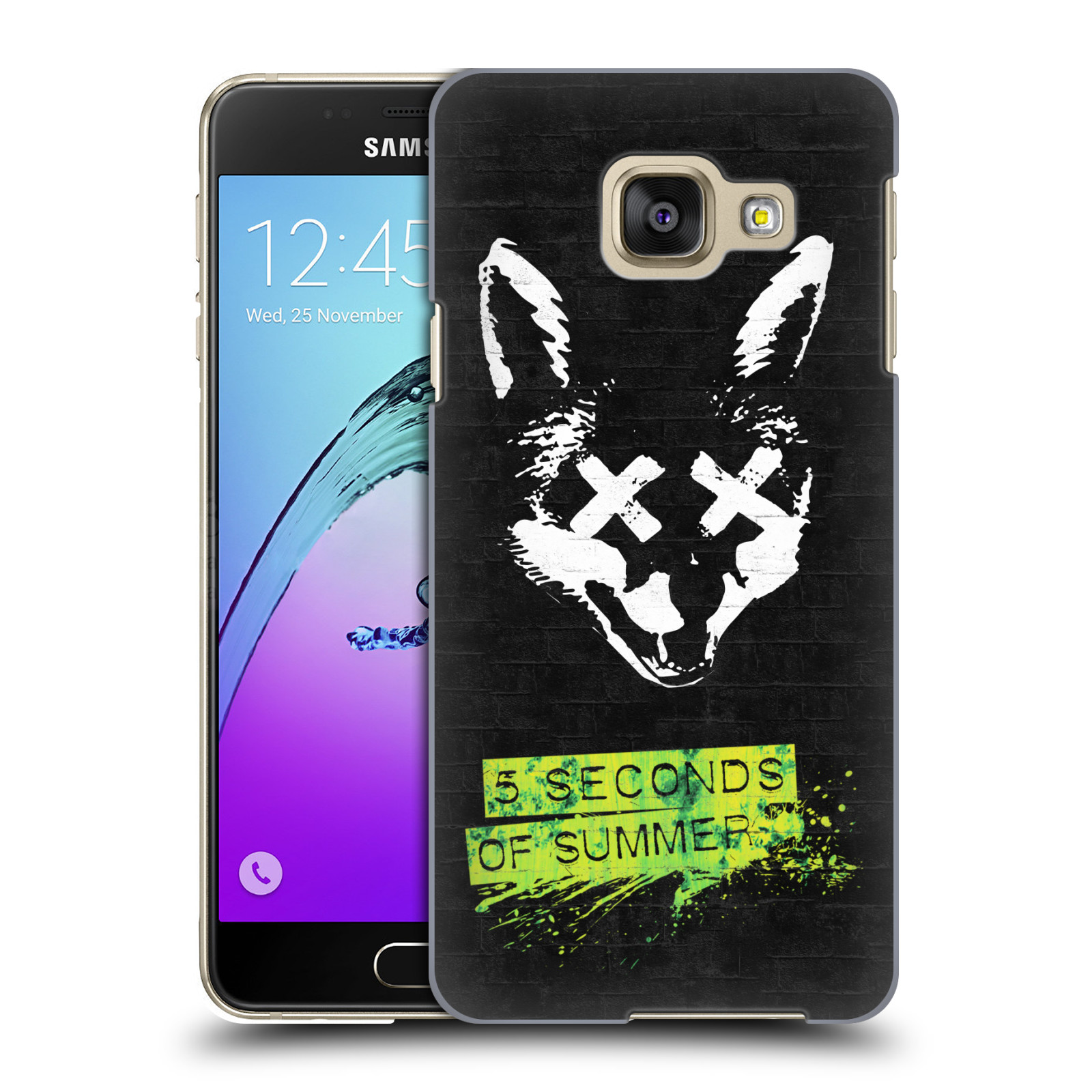 Plastové pouzdro na mobil Samsung Galaxy A3 (2016) HEAD CASE 5 Seconds of Summer - Fox