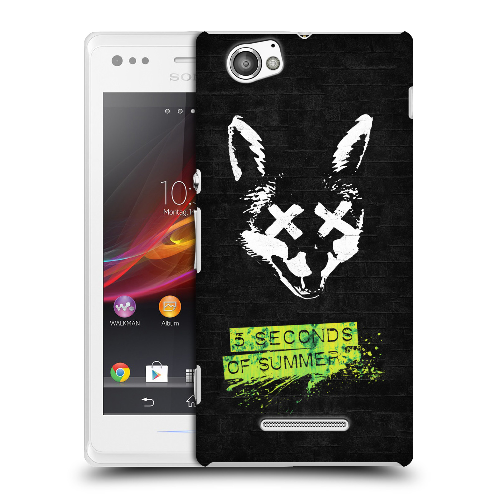 Plastové pouzdro na mobil Sony Xperia M C1905 HEAD CASE 5 Seconds of Summer - Fox
