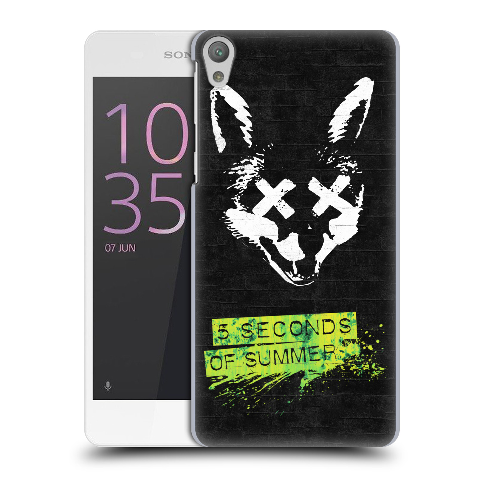 Plastové pouzdro na mobil Sony Xperia E5 HEAD CASE 5 Seconds of Summer - Fox