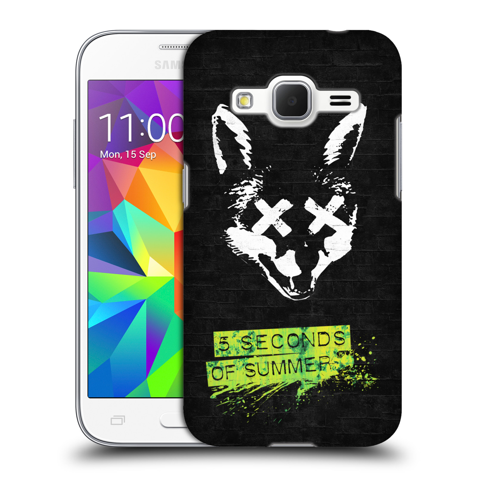 Plastové pouzdro na mobil Samsung Galaxy Core Prime LTE HEAD CASE 5 Seconds of Summer - Fox