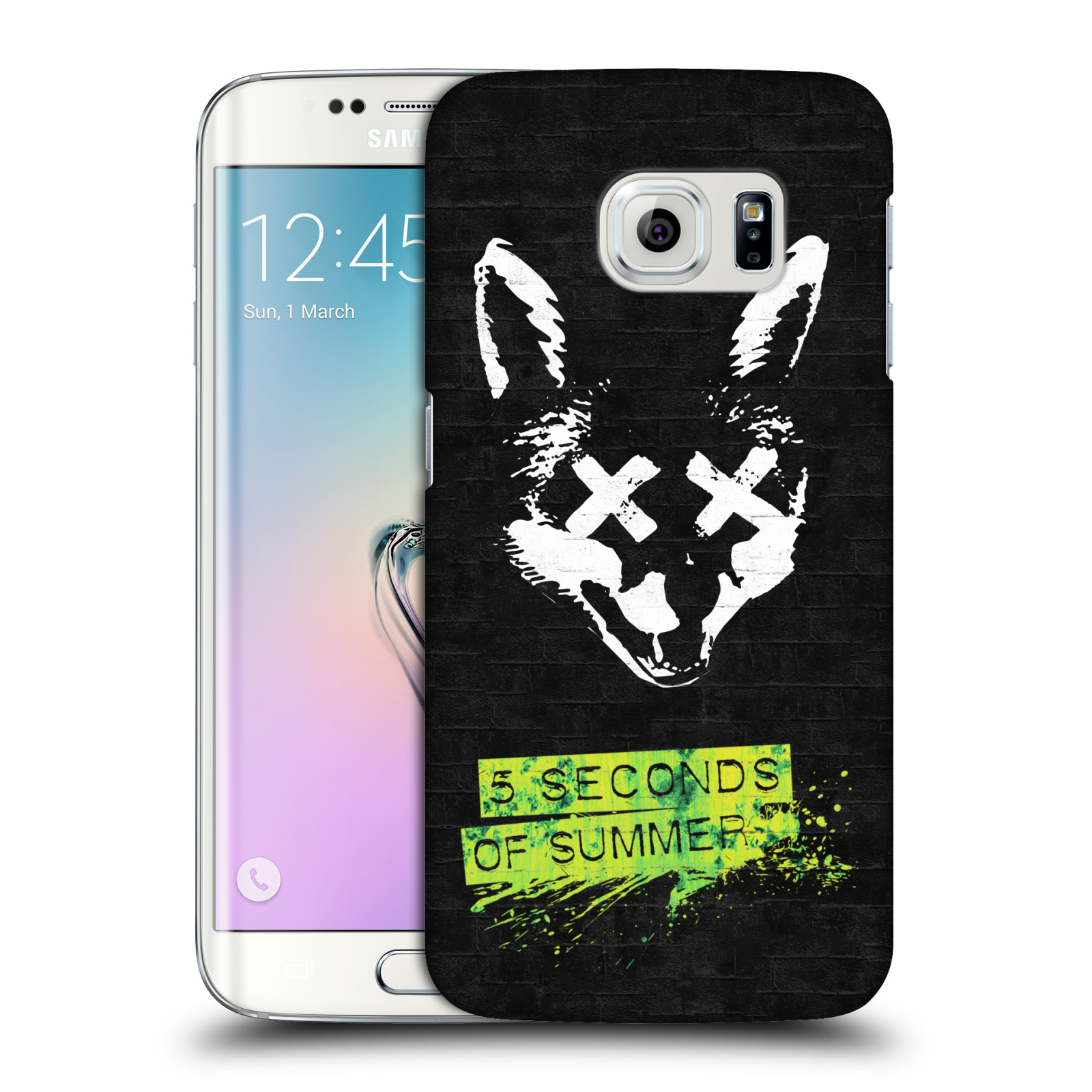 Plastové pouzdro na mobil Samsung Galaxy S6 Edge HEAD CASE 5 Seconds of Summer - Fox - ROZBALENO