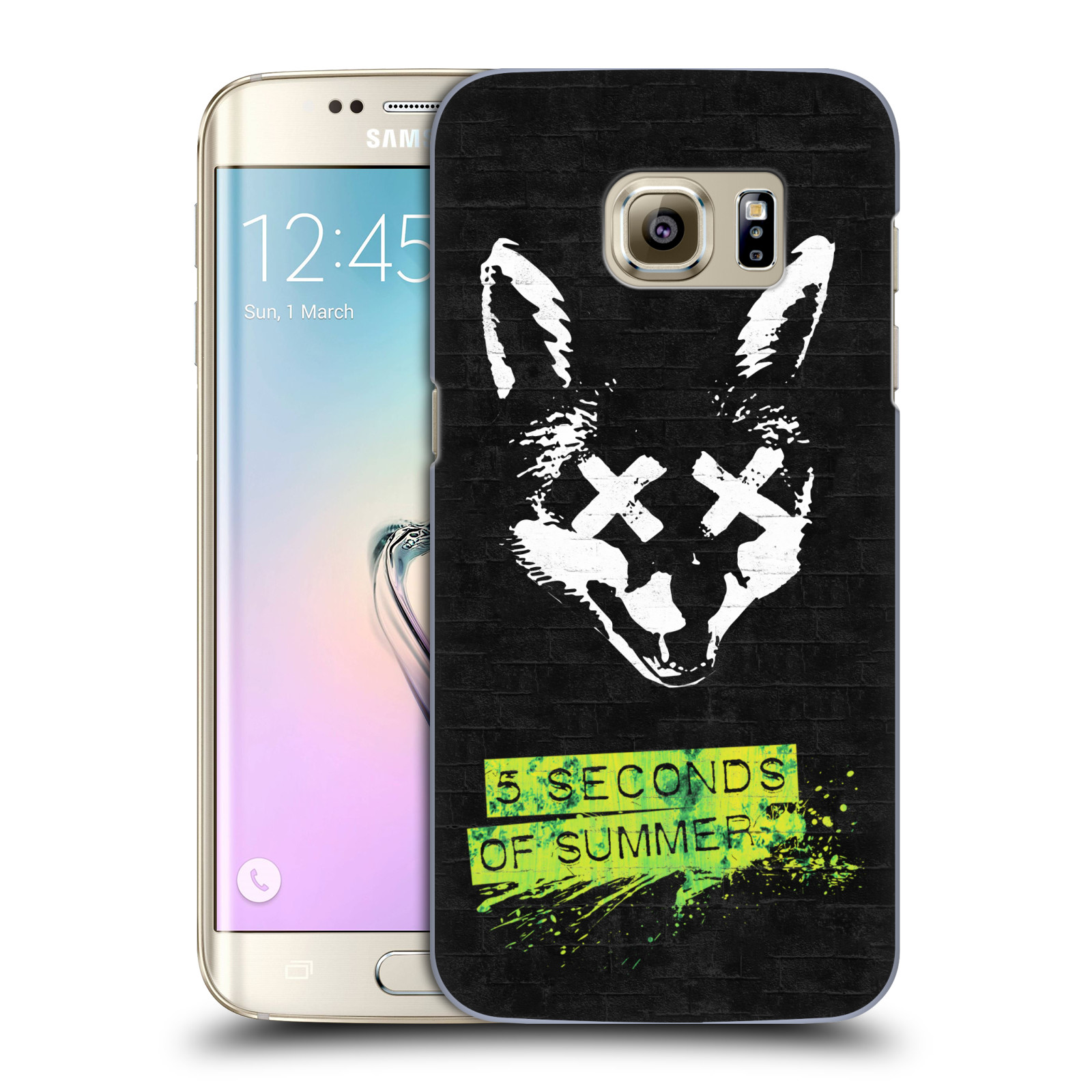 Plastové pouzdro na mobil Samsung Galaxy S7 Edge HEAD CASE 5 Seconds of Summer - Fox