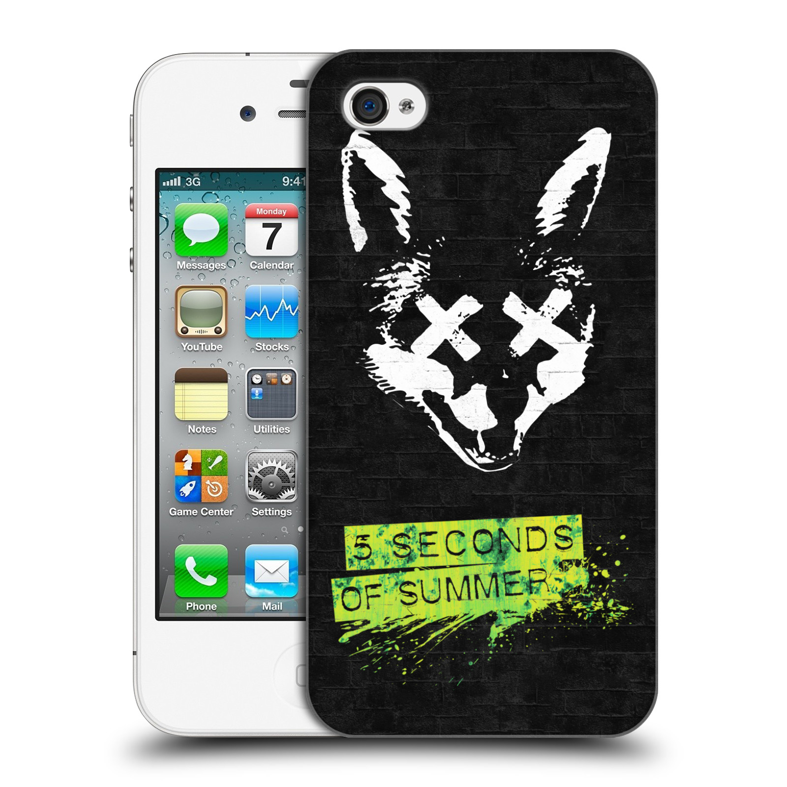 Plastové pouzdro na mobil Apple iPhone 4 a 4S HEAD CASE 5 Seconds of Summer  - empty 21f56afc53d