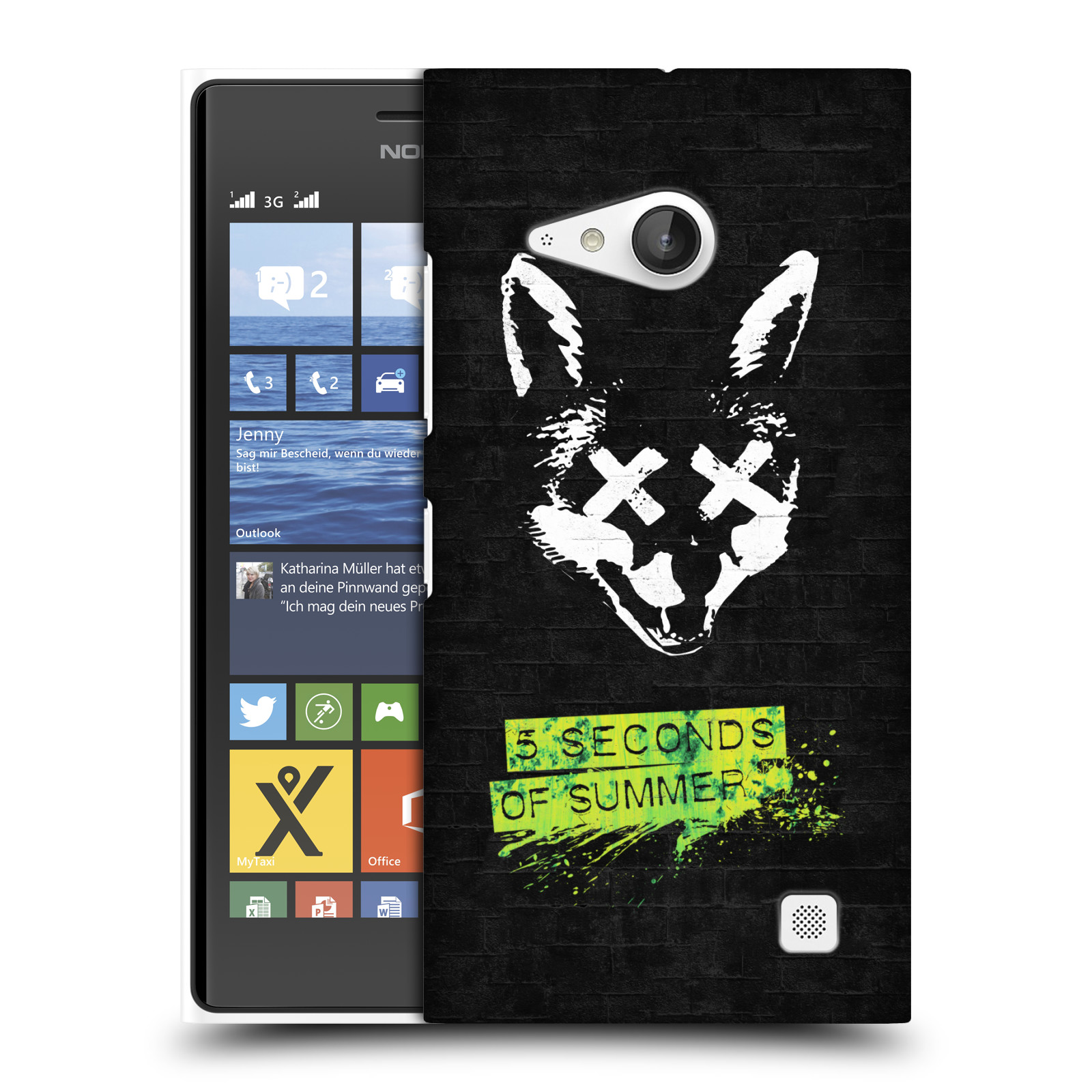 Plastové pouzdro na mobil Nokia Lumia 730 Dual SIM HEAD CASE 5 Seconds of Summer - Fox