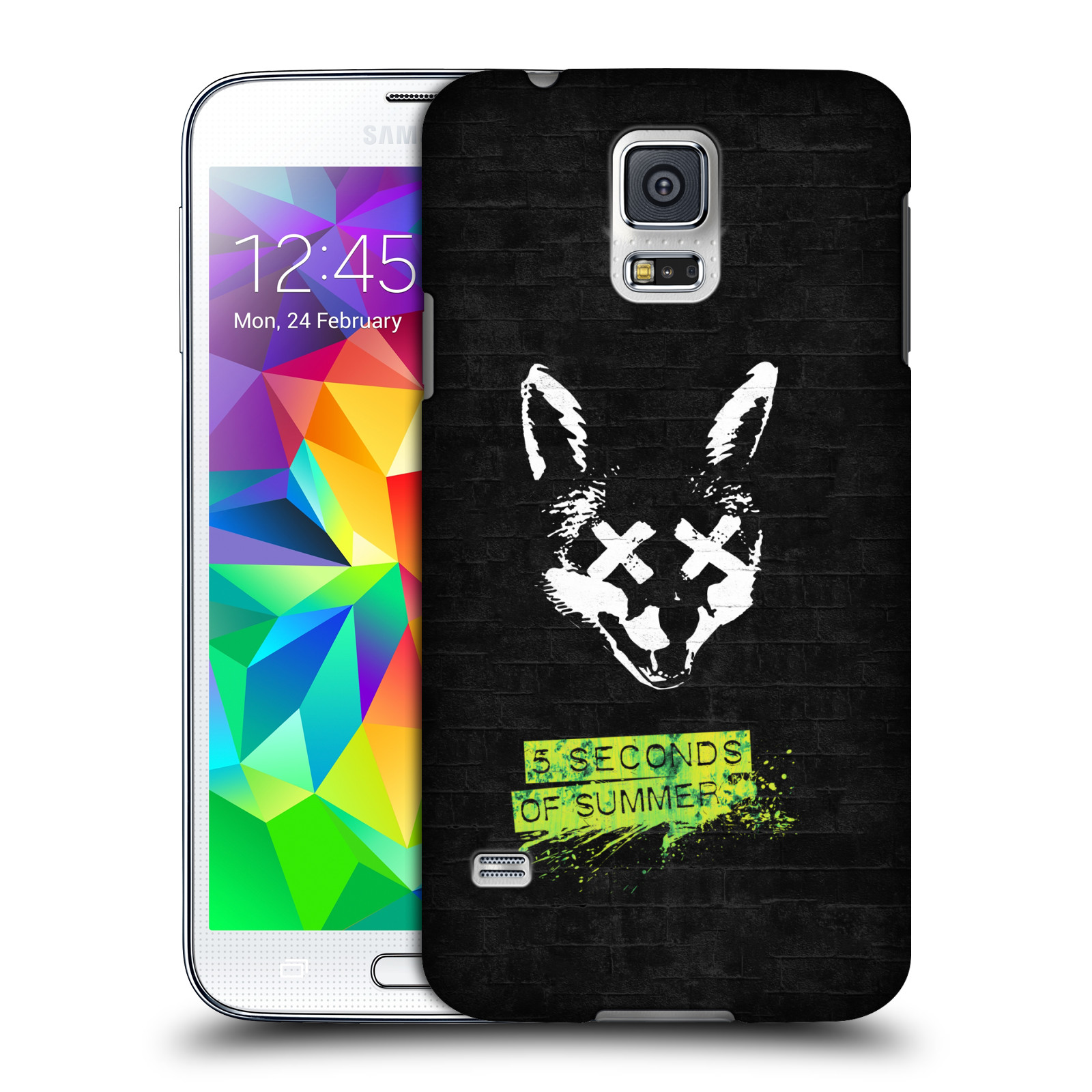 Plastové pouzdro na mobil Samsung Galaxy S5 HEAD CASE 5 Seconds of Summer - Fox