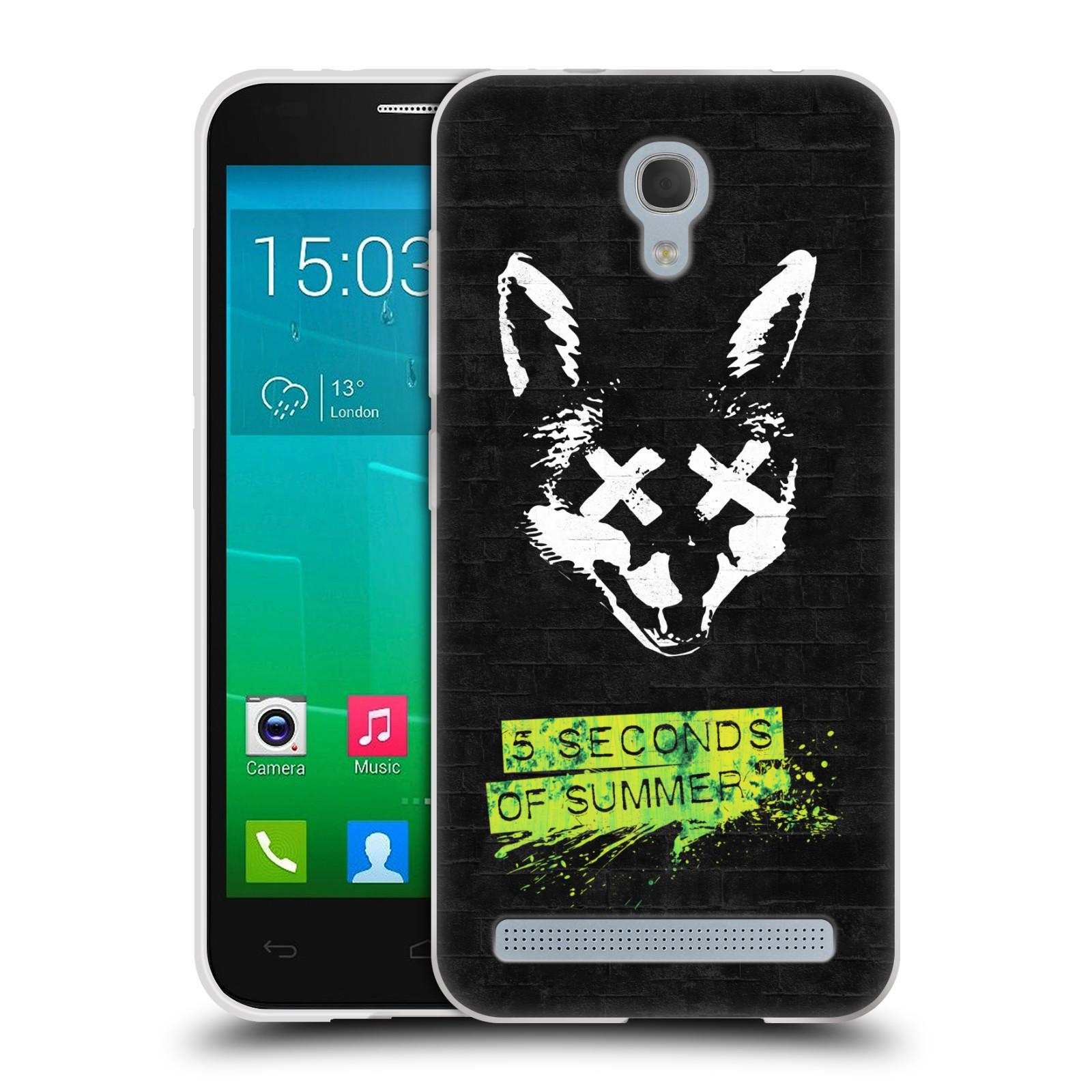 Silikonové pouzdro na mobil Alcatel One Touch Idol 2 Mini S 6036Y HEAD CASE 5 Seconds of Summer - Fox (Silikonový kryt či obal na mobilní telefon licencovaným motivem 5 Seconds of Summer pro Alcatel Idol 2 Mini S OT-6036Y)