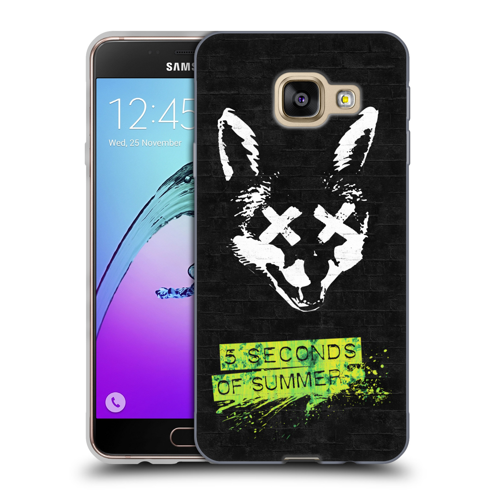 Silikonové pouzdro na mobil Samsung Galaxy A3 (2016) HEAD CASE 5 Seconds of Summer - Fox