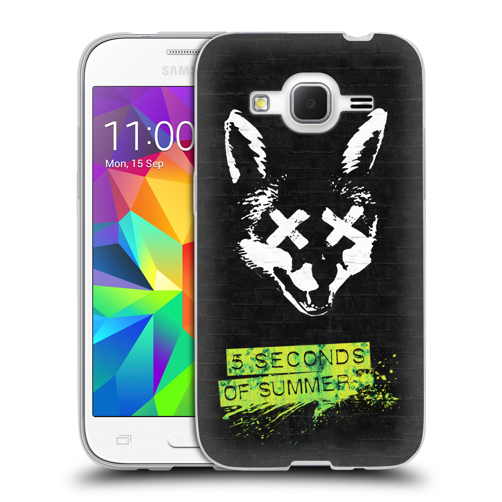 Silikonové pouzdro na mobil Samsung Galaxy Core Prime VE HEAD CASE 5 Seconds of Summer - Fox