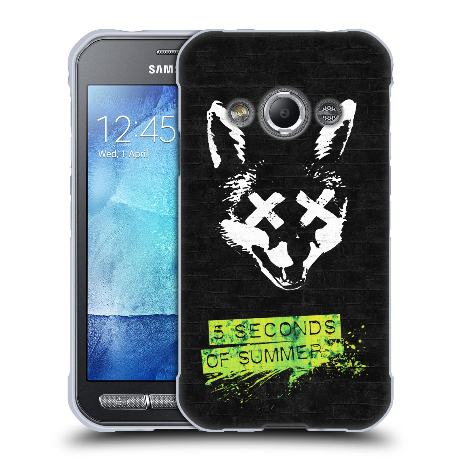 Silikonové pouzdro na mobil Samsung Galaxy Xcover 3 HEAD CASE 5 Seconds of Summer - Fox
