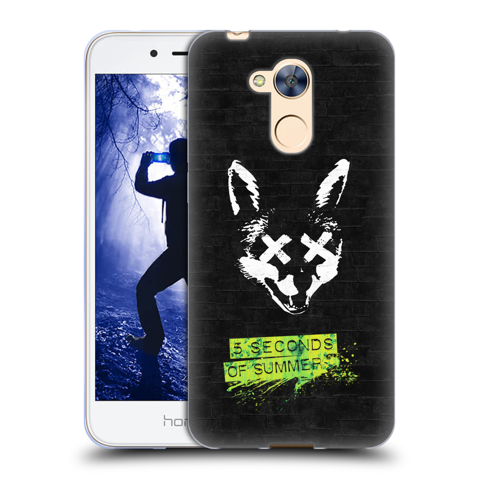 Silikonové pouzdro na mobil Honor 6A - Head Case - 5 Seconds of Summer - Fox