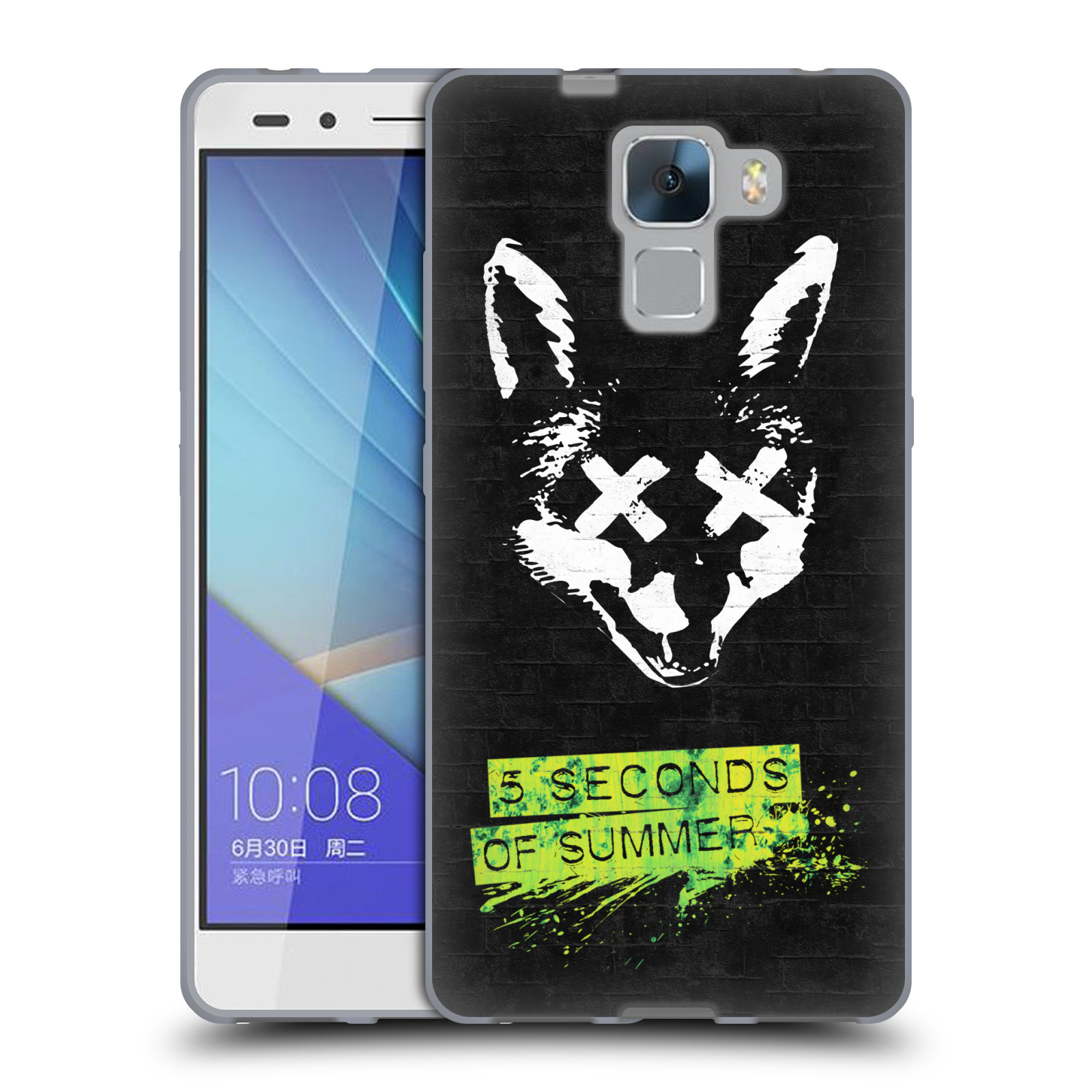 Silikonové pouzdro na mobil Honor 7 HEAD CASE 5 Seconds of Summer - Fox