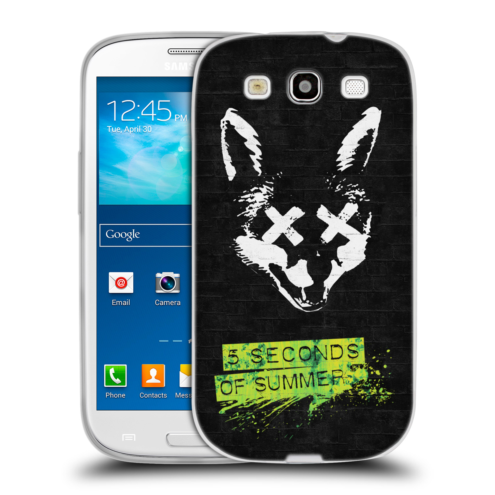 Silikonové pouzdro na mobil Samsung Galaxy S III HEAD CASE 5 Seconds of Summer - Fox