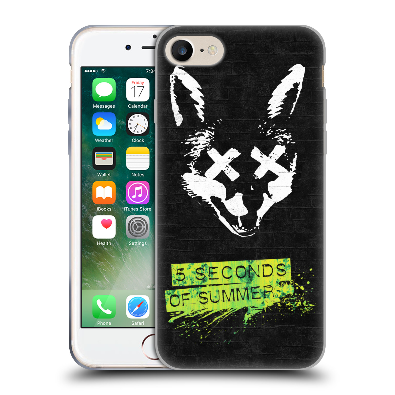 Silikonové pouzdro na mobil Apple iPhone 8 - Head Case - 5 Seconds of Summer - Fox