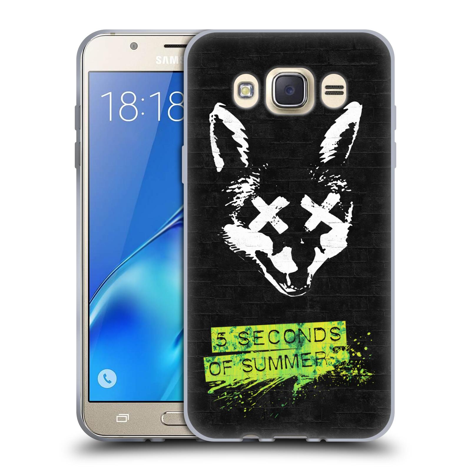 Silikonové pouzdro na mobil Samsung Galaxy J7 (2016) HEAD CASE 5 Seconds of Summer - Fox