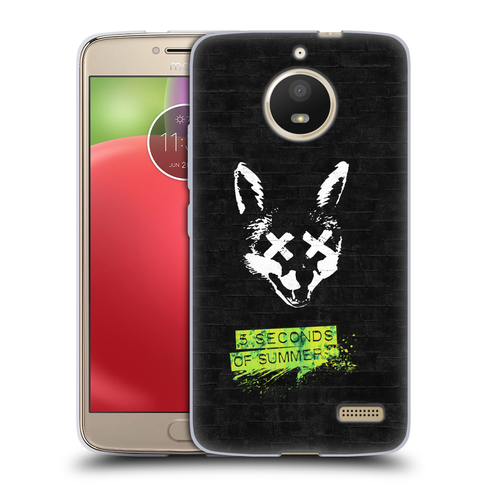 Silikonové pouzdro na mobil Lenovo Moto E4 - Head Case - 5 Seconds of Summer - Fox