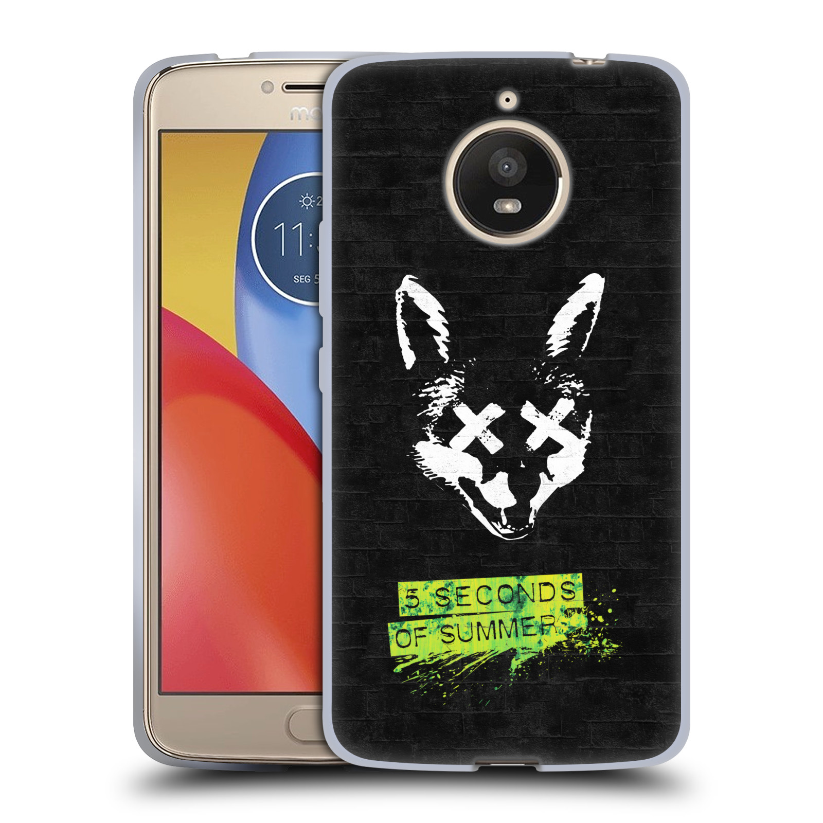 Silikonové pouzdro na mobil Lenovo Moto E4 Plus - Head Case - 5 Seconds of Summer - Fox