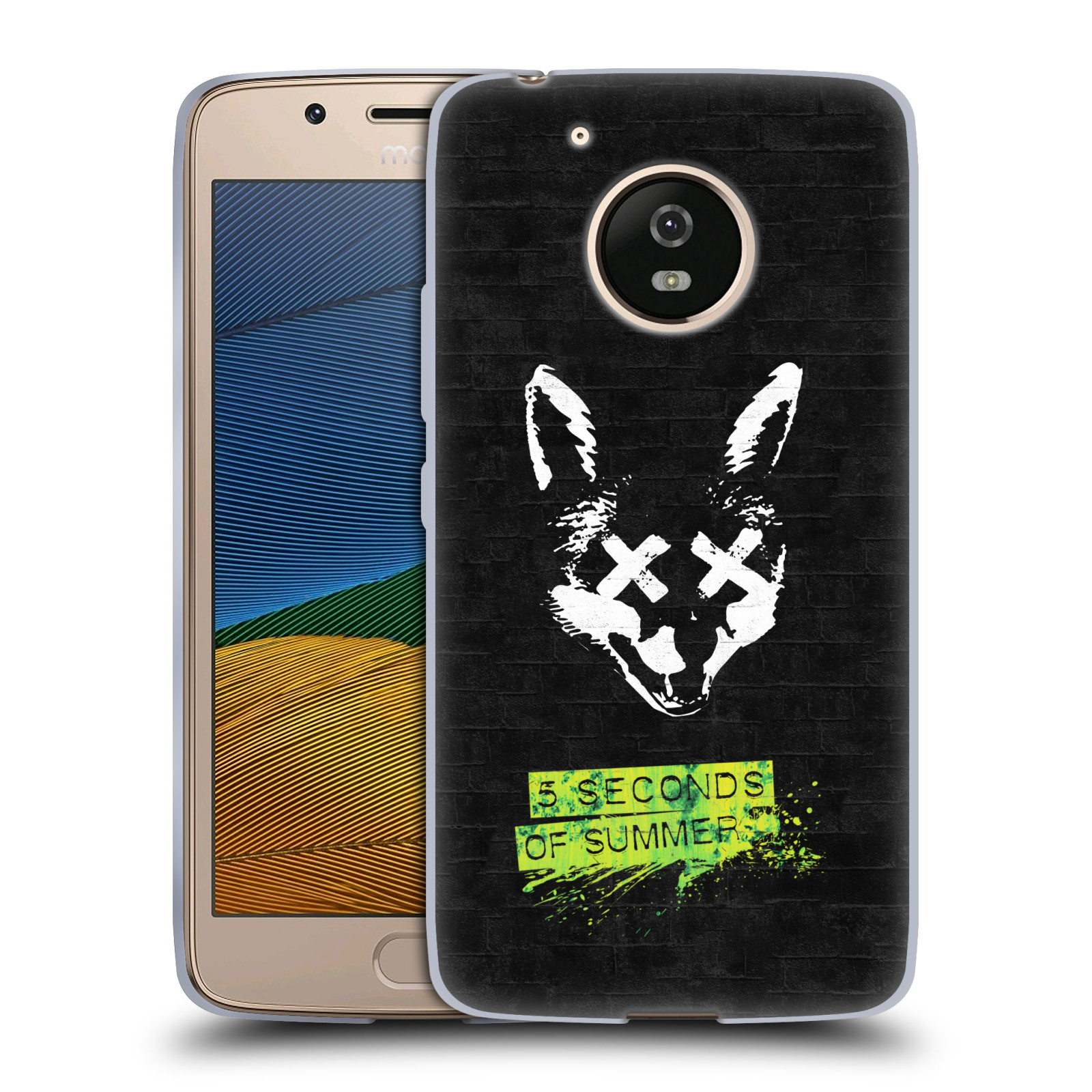 Silikonové pouzdro na mobil Lenovo Moto G5 - Head Case 5 Seconds of Summer - Fox