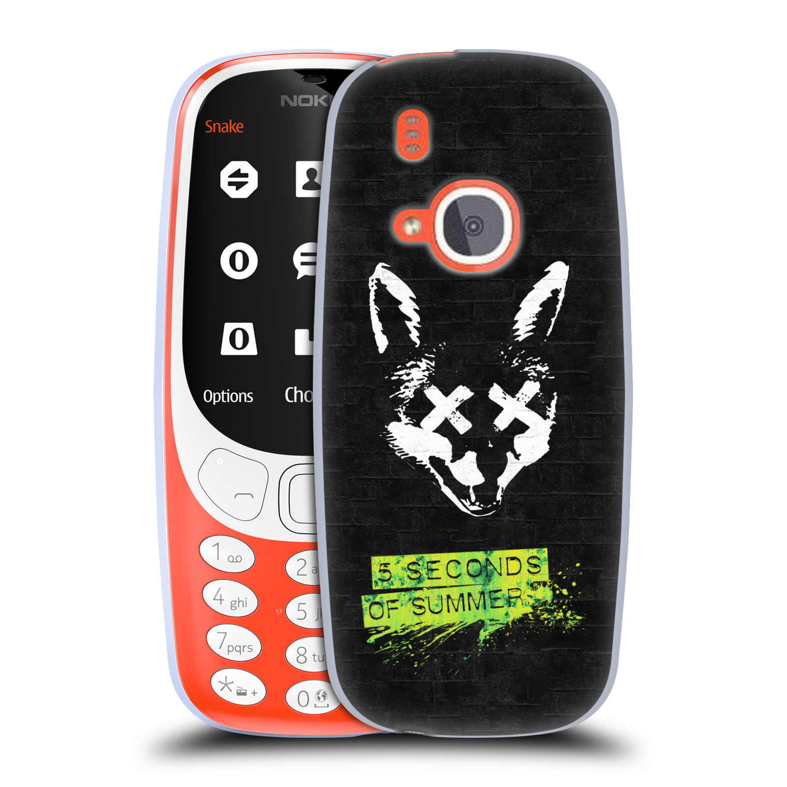 Silikonové pouzdro na mobil Nokia 3310 - Head Case - 5 Seconds of Summer - Fox