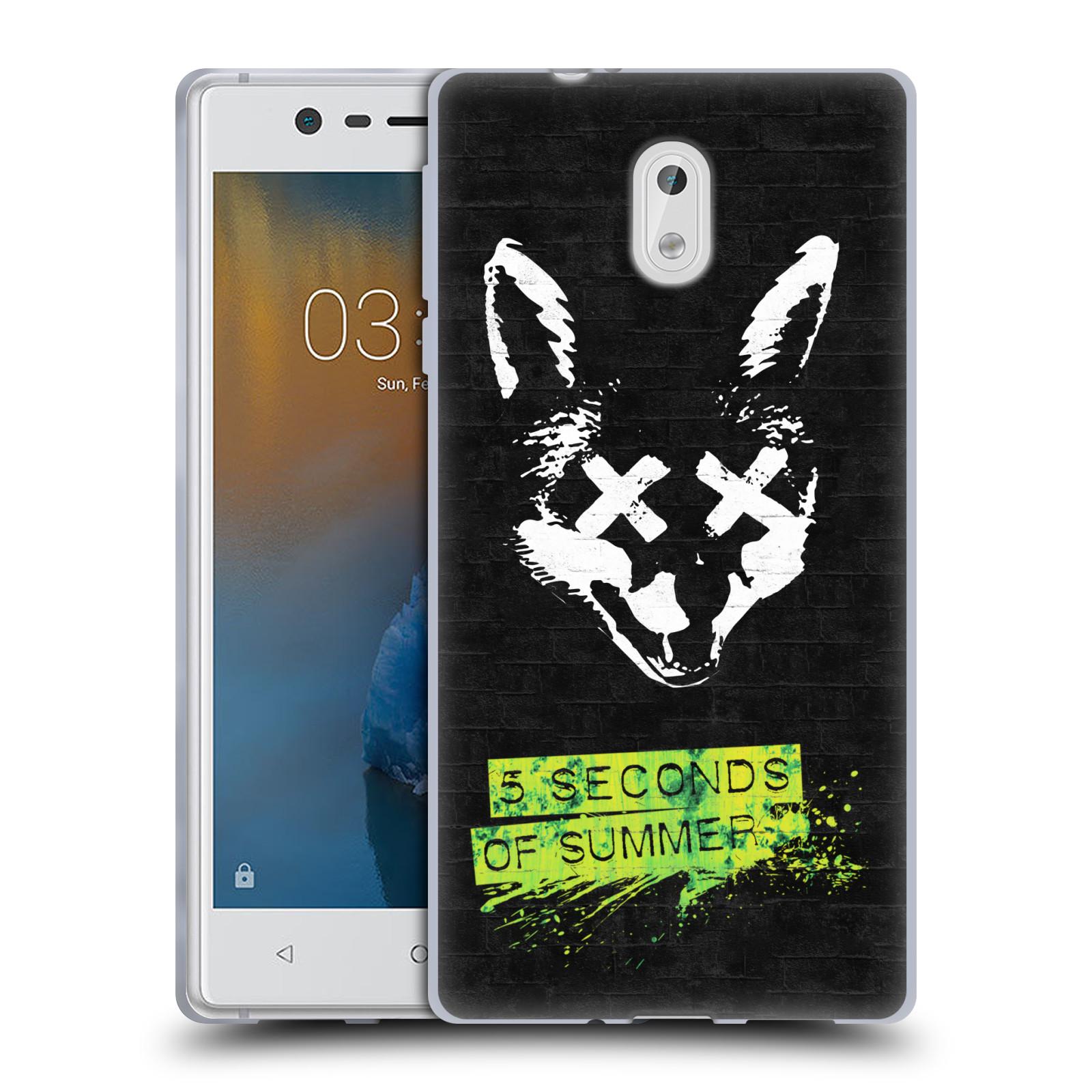 Silikonové pouzdro na mobil Nokia 3 Head Case - 5 Seconds of Summer - Fox