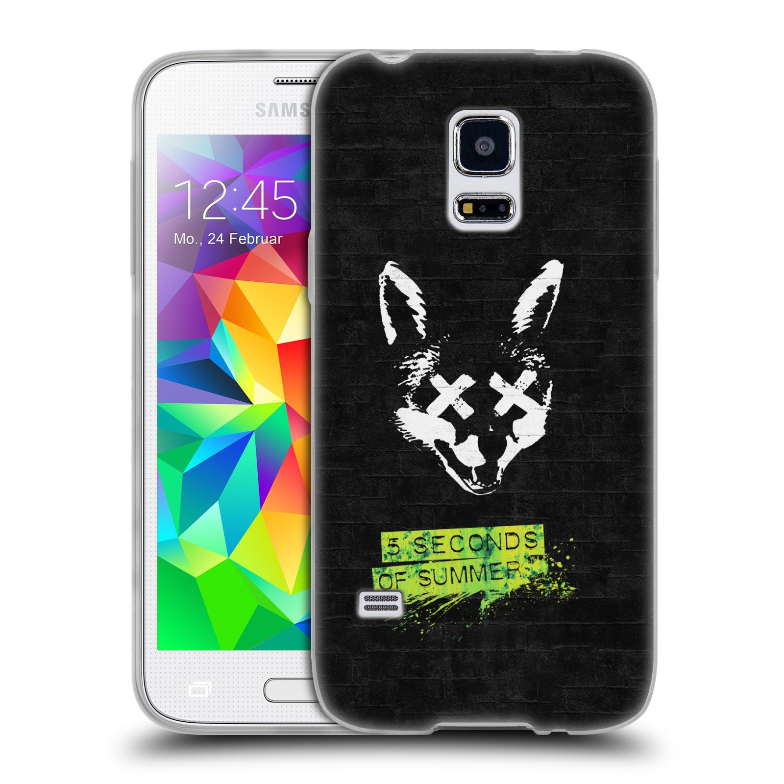 Silikonové pouzdro na mobil Samsung Galaxy S5 Mini HEAD CASE 5 Seconds of Summer - Fox