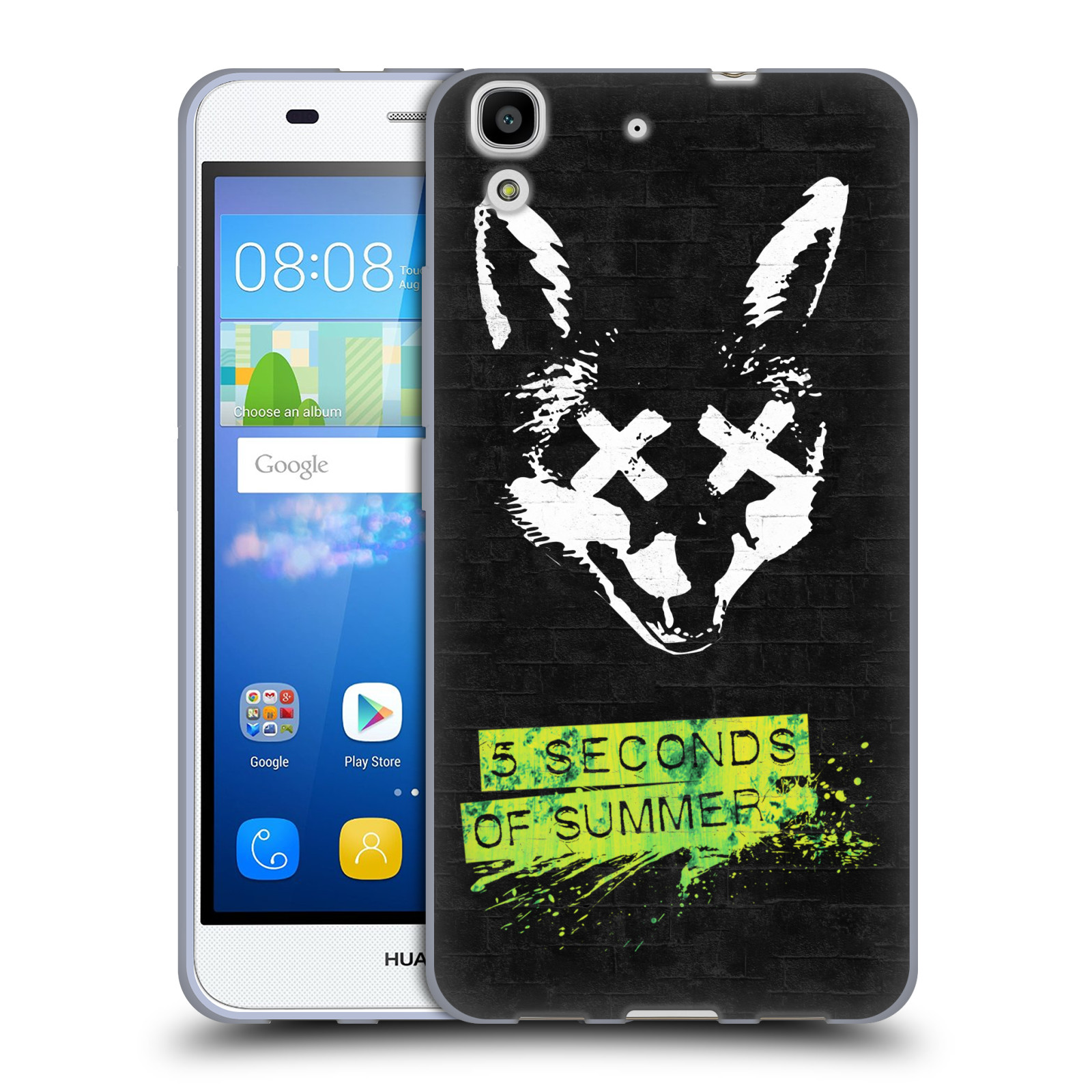 Silikonové pouzdro na mobil Huawei Y6 HEAD CASE 5 Seconds of Summer - Fox