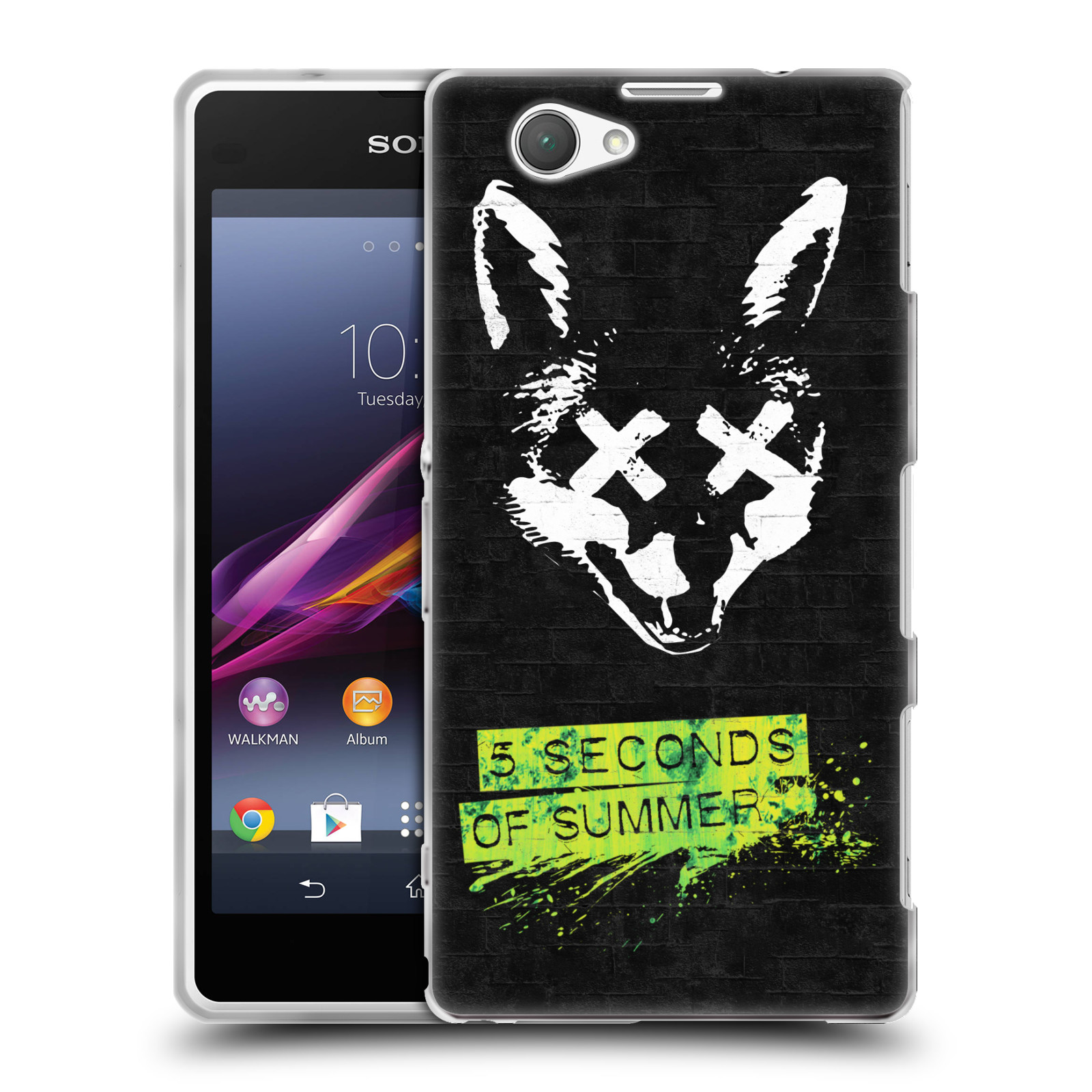 Silikonové pouzdro na mobil Sony Xperia Z1 Compact D5503 HEAD CASE 5 Seconds of Summer - Fox