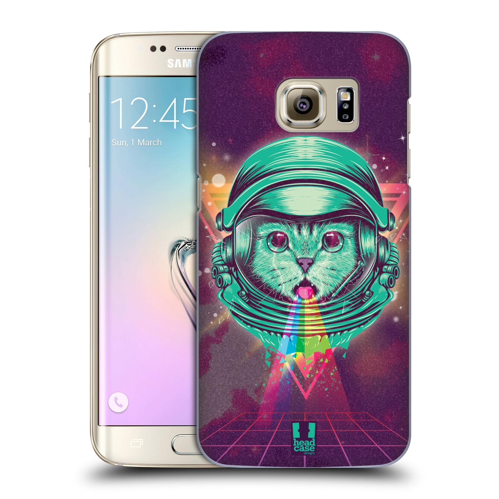 Plastové pouzdro na mobil Samsung Galaxy S7 Edge Head Case - Kóča ve skafandru