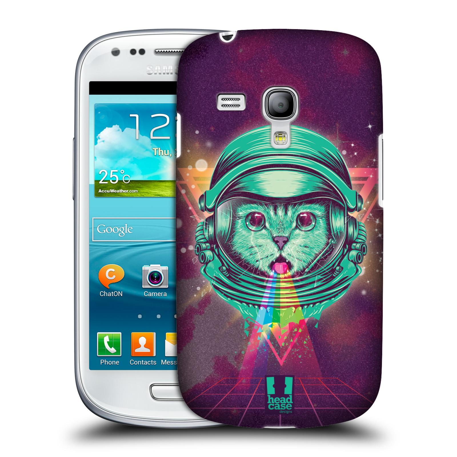 Silikonové pouzdro na mobil Samsung Galaxy S III Mini VE Head Case - Kóča ve skafandru (Plastový kryt či obal na mobilní telefon s motivem z osmdesátek pro Samsung Galaxy S3 Mini VE GT-i8200)