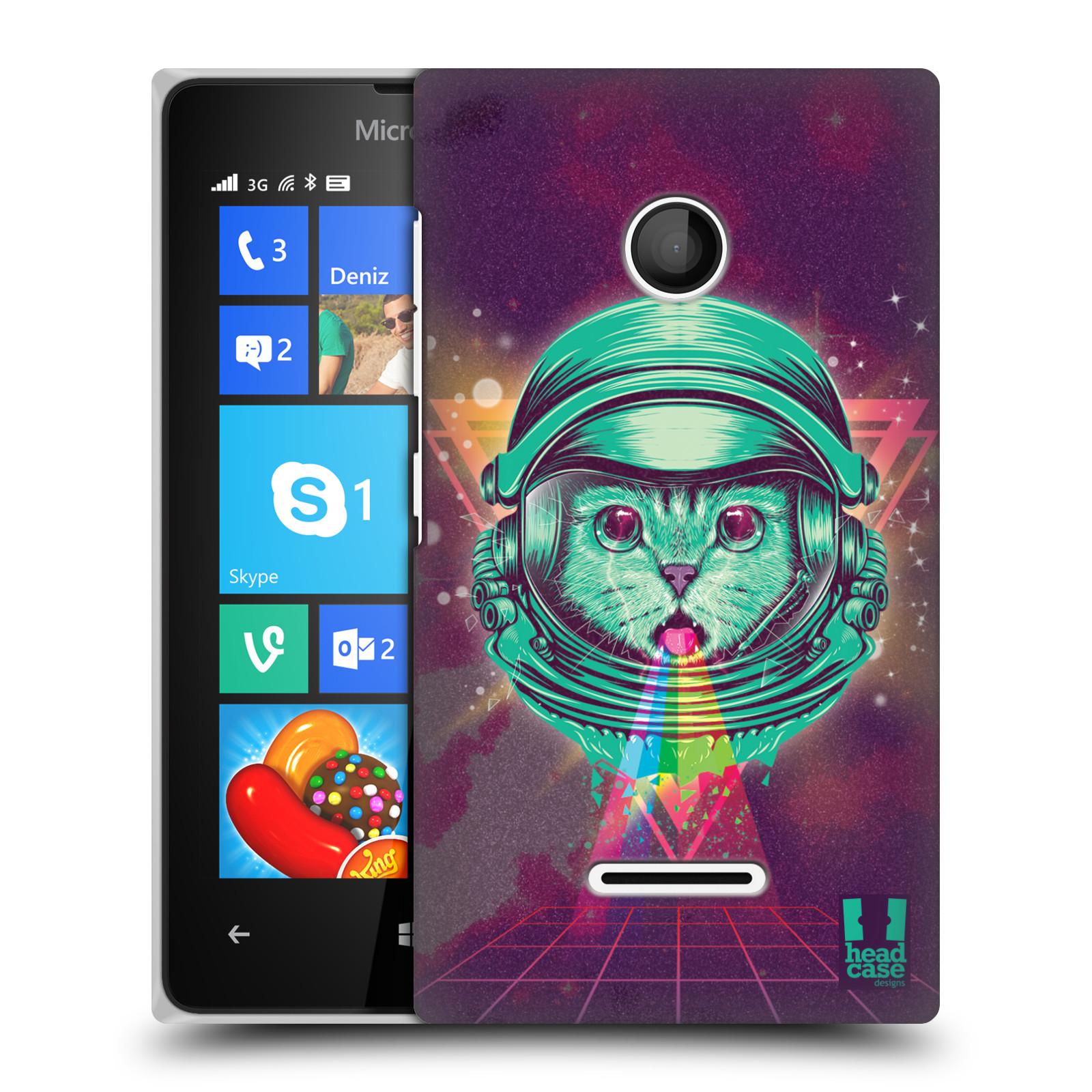 Plastové pouzdro na mobil Microsoft Lumia 435 Head Case - Kóča ve skafandru