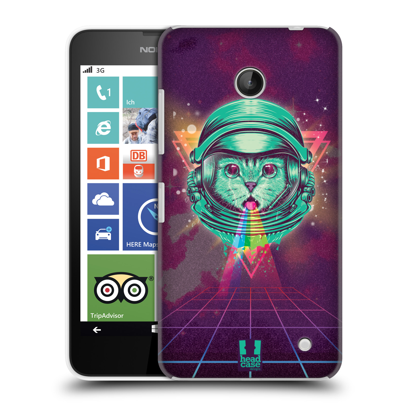 Plastové pouzdro na mobil Nokia Lumia 630 Head Case - Kóča ve skafandru
