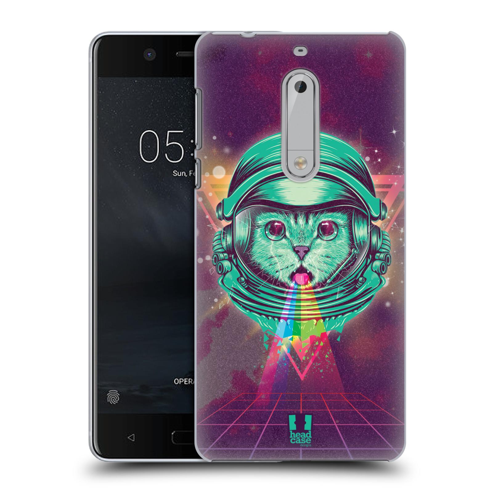 Plastové pouzdro na mobil Nokia 5 Head Case - Kóča ve skafandru (Plastový kryt či obal na mobilní telefon s motivem z osmdesátek pro Nokia 5 (2017))