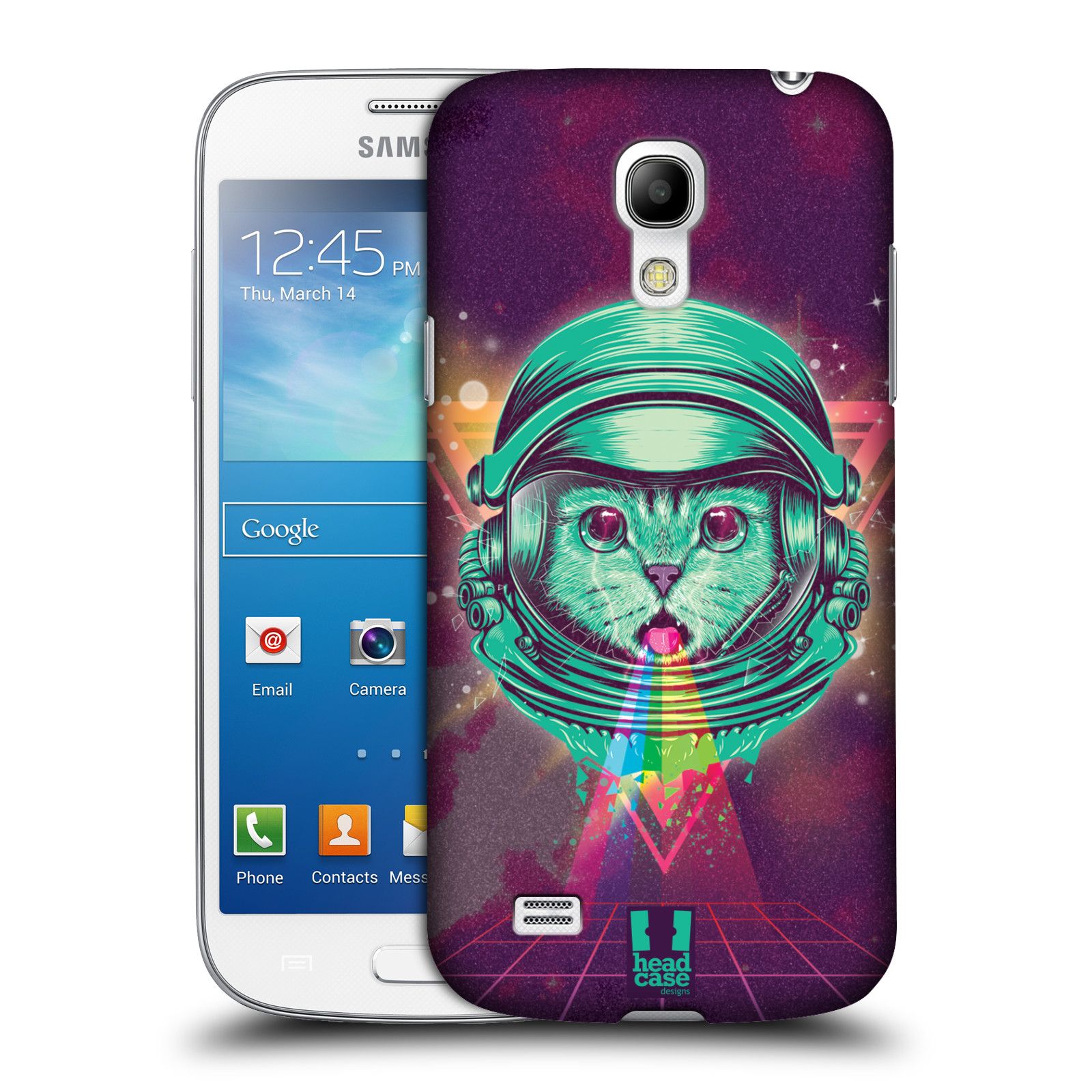 Plastové pouzdro na mobil Samsung Galaxy S4 Mini VE Head Case - Kóča ve skafandru
