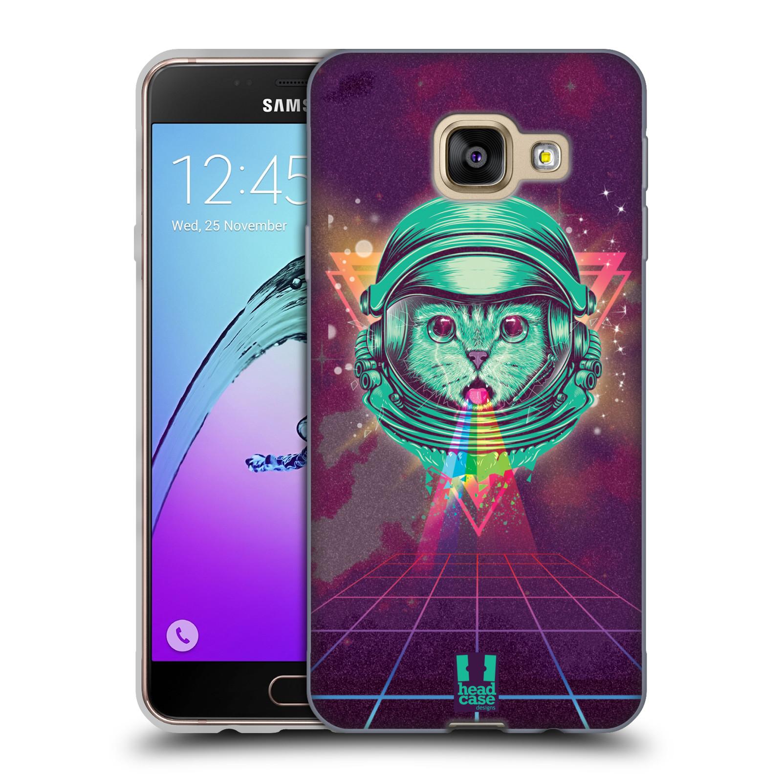 Silikonové pouzdro na mobil Samsung Galaxy A3 (2016) Head Case - Kóča ve skafandru