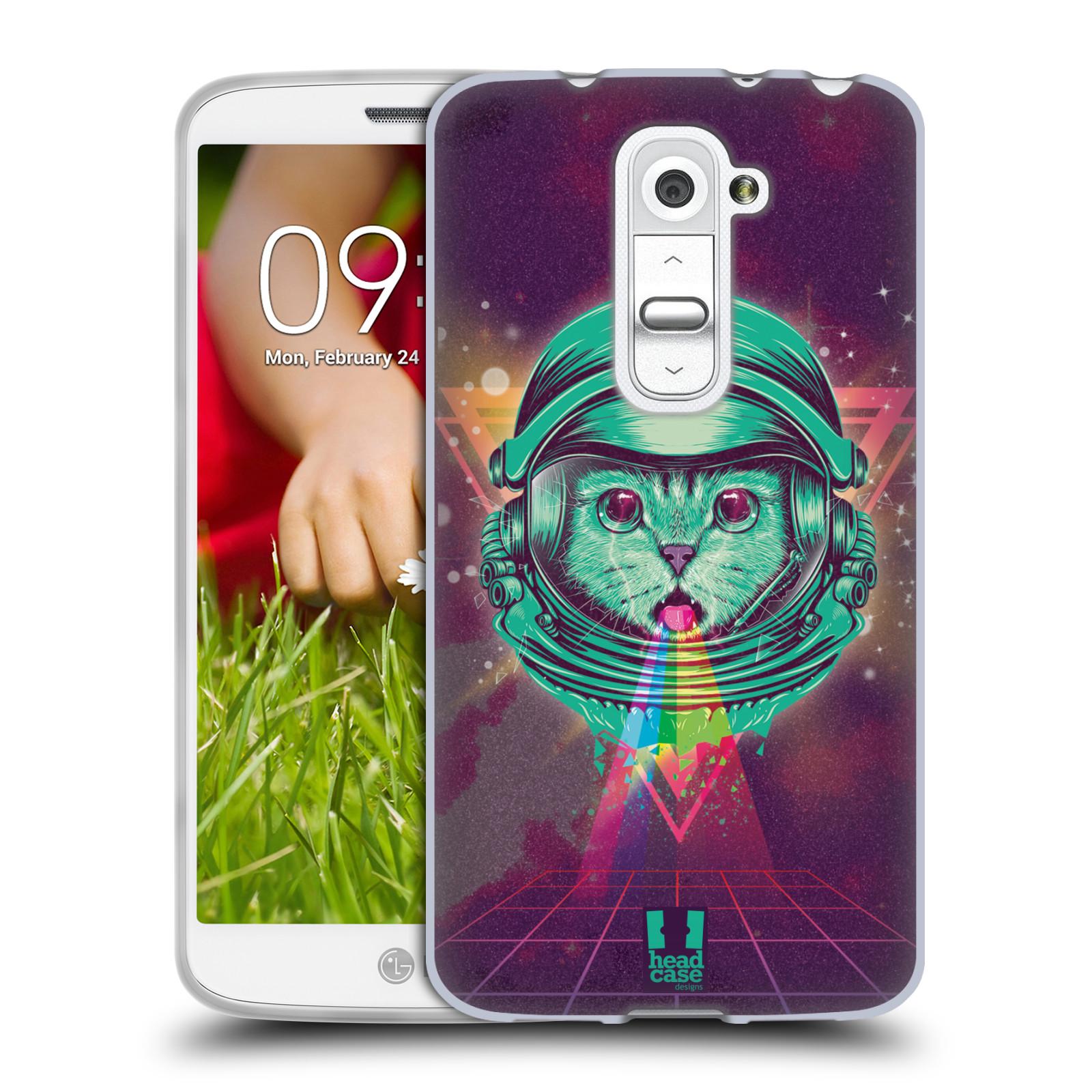 Silikonové pouzdro na mobil LG G2 Mini Head Case - Kóča ve skafandru (Silikonový kryt či obal na mobilní telefon s motivem z osmdesátek pro LG G2 Mini D620)